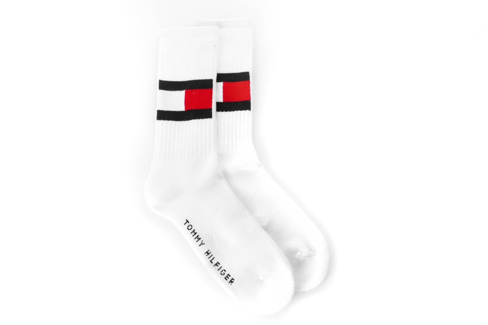 Foto van Tommy Hilfiger TH FLAG 1P 481985001 sokken white