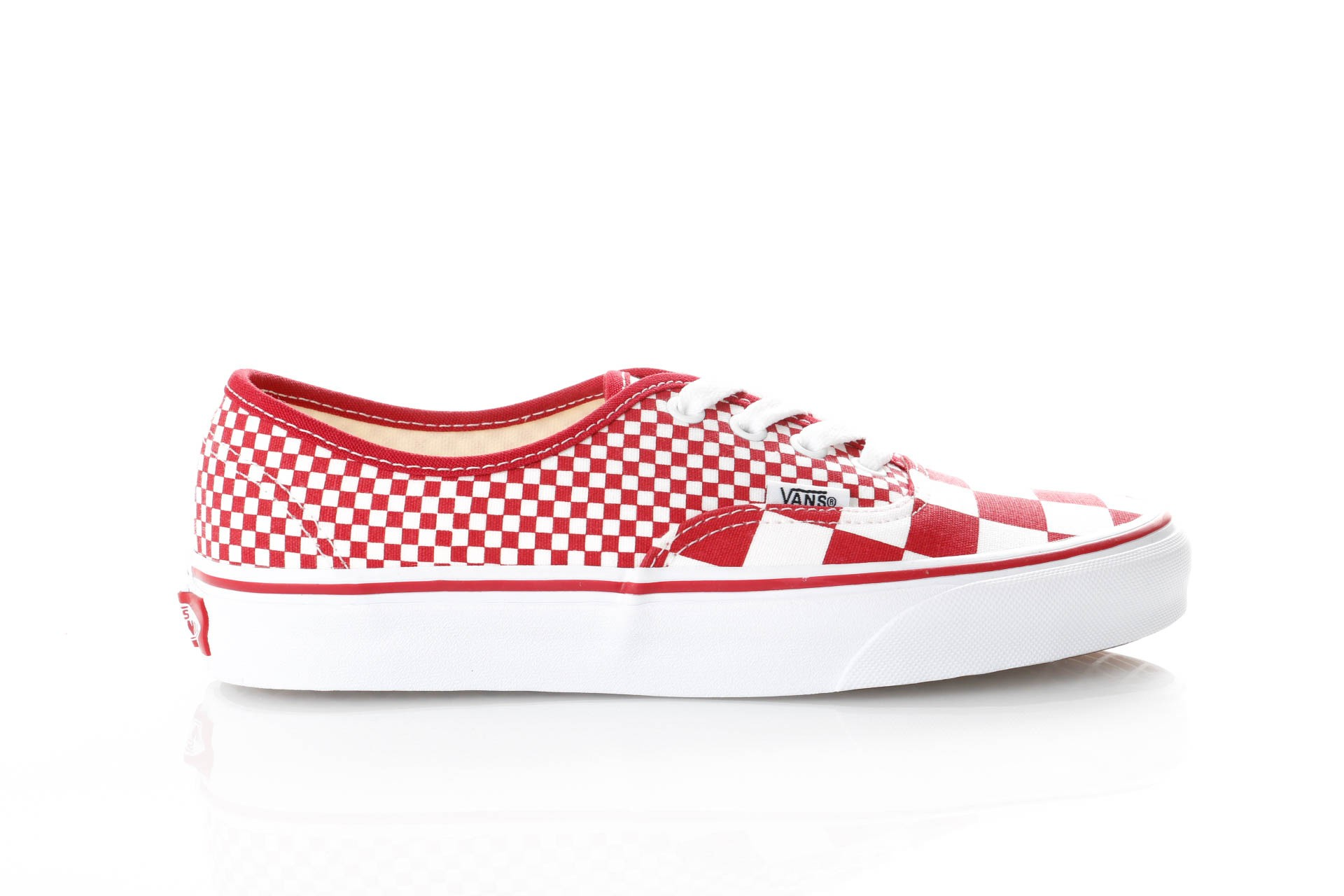 Foto van Vans Ua Authentic Vn0A38Emvk5 Sneakers (Mix Checker) Chili Pepper/True White