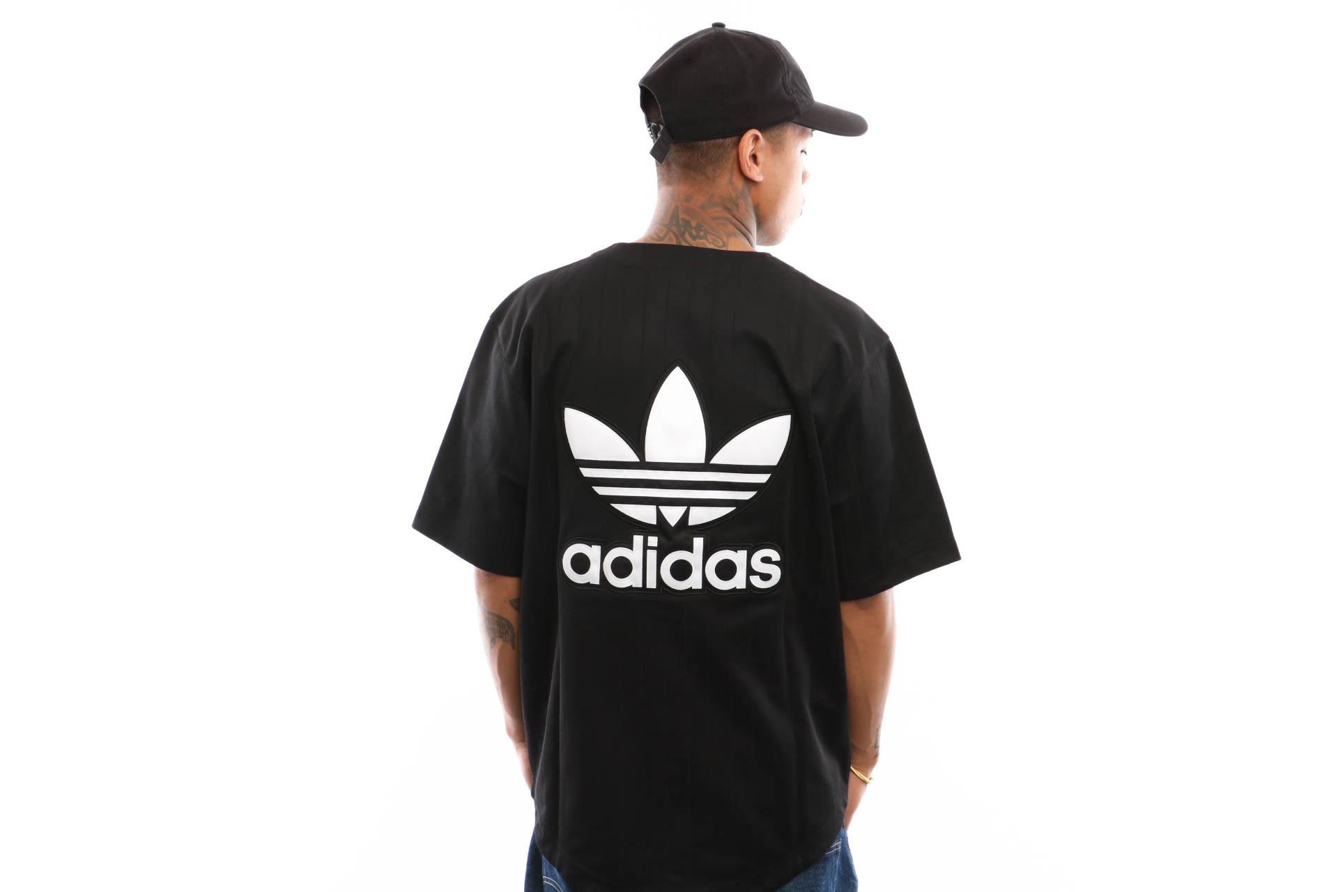 Foto van Adidas Baseball Jersey Dv1616 Black/Carbon