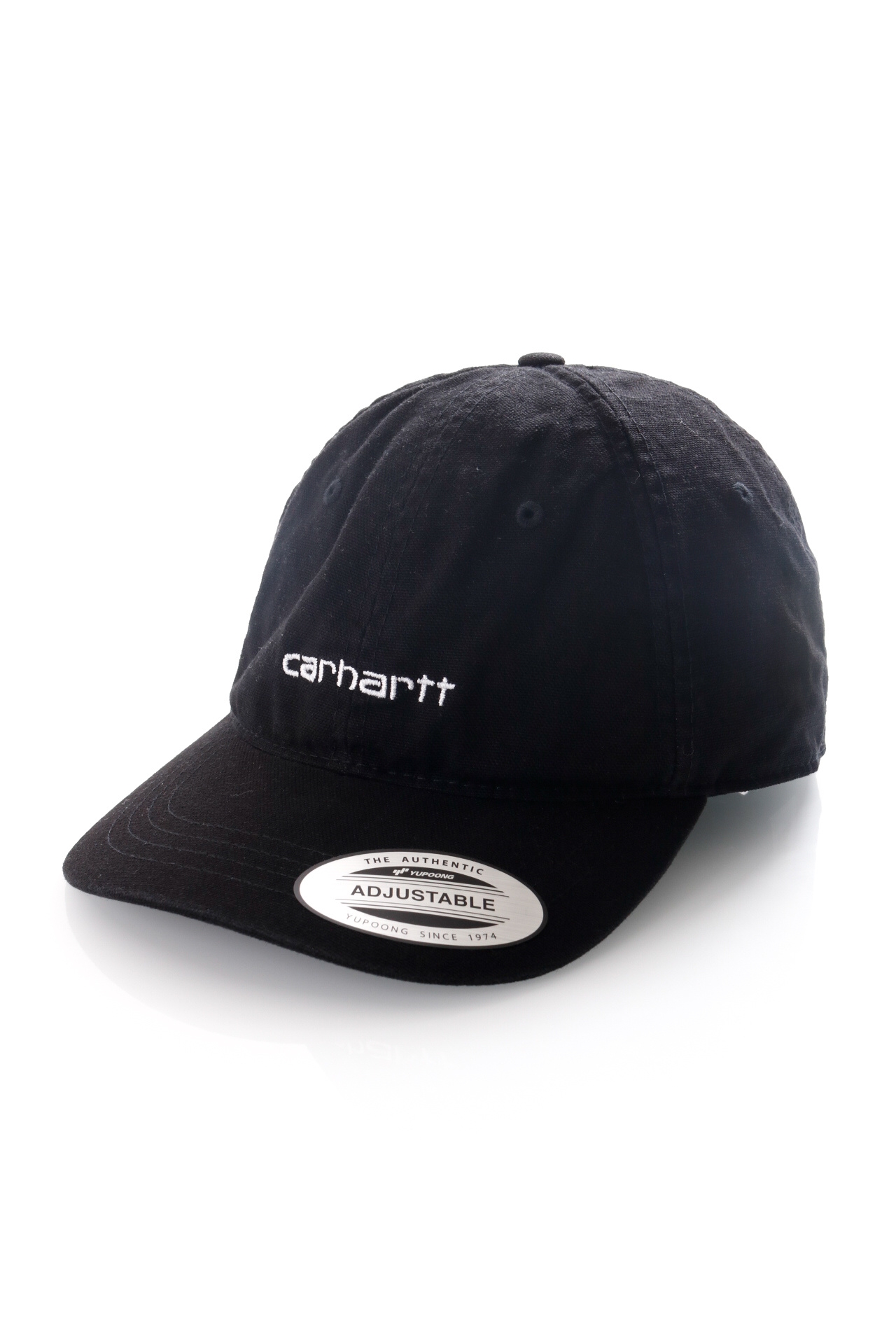Foto van Carhartt Dad Cap Canvas Coach Cap Black / White I028165