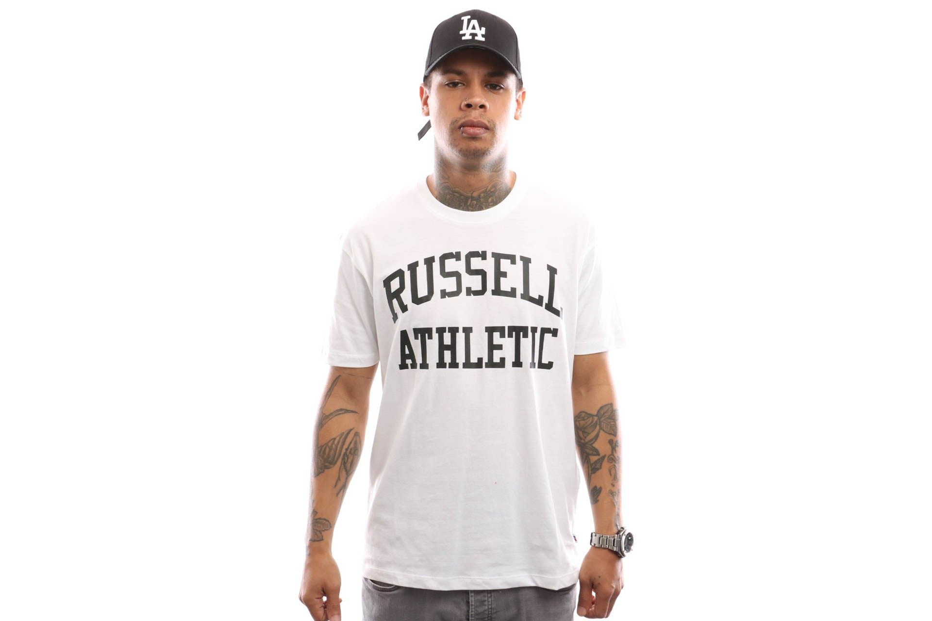 Foto van Russell Athletic Iconic Short Sleeve A9-002-1 T Shirt White