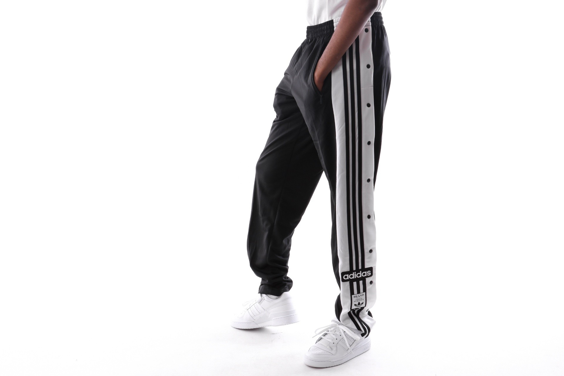 Foto van Adidas Snap Pants Dv1593 Trainingsbroek Black