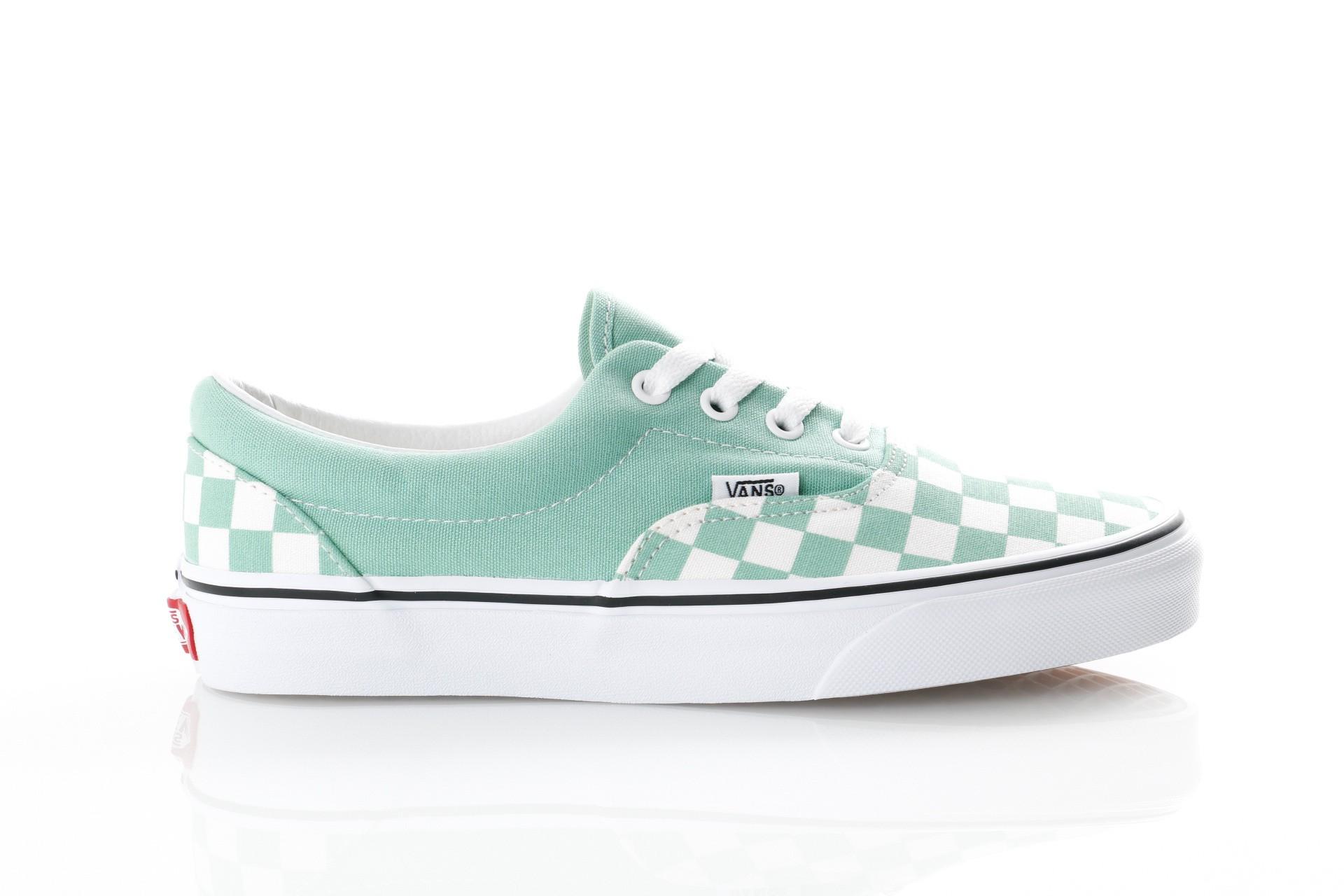 Foto van Vans UA Era VN0A38FRVOV Sneakers (Checkerboard) neptune green/true white