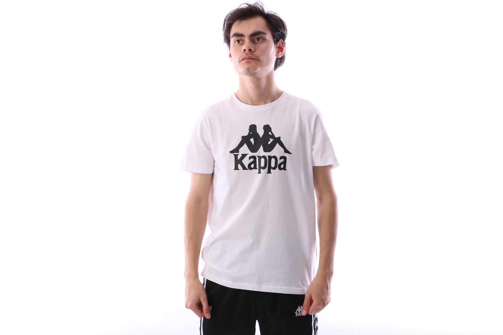Foto van Kappa 303LRZ0-001 T-shirt Authentic estessi Wit