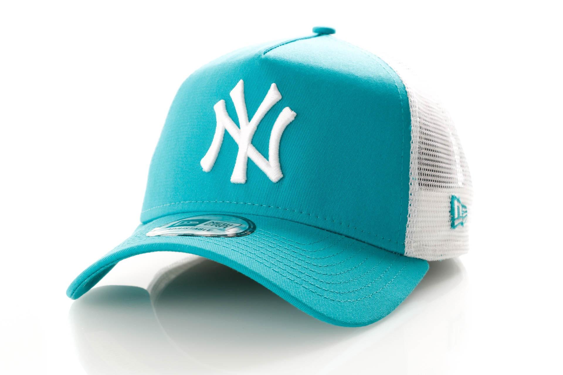 Foto van New Era League Essential Trucker 11945644 Trucker Cap Teal/Optic White New York Yankees