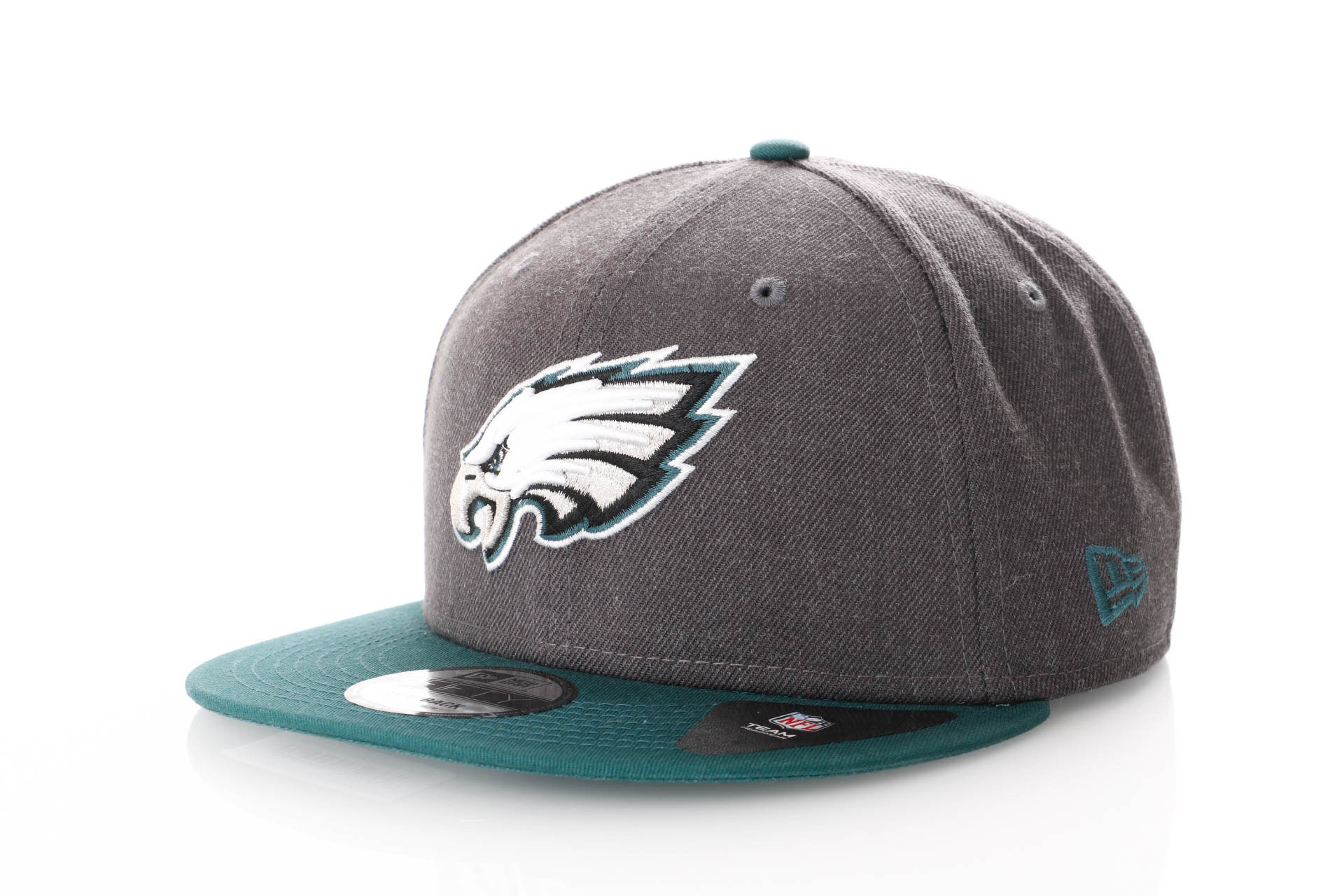 Foto van New Era Nfl Heather 9Fifty 11871351 Snapback Cap Graphite/Offical T Colour Nfl Philadelphia Eagles