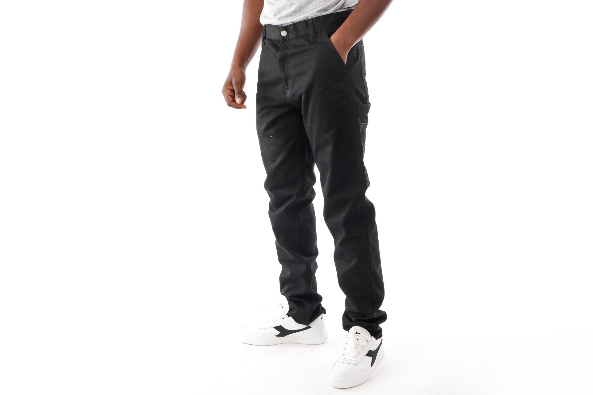 Foto van Carhartt Wip Ruck Single Knee Pant I020996 Chino Black Rinsed