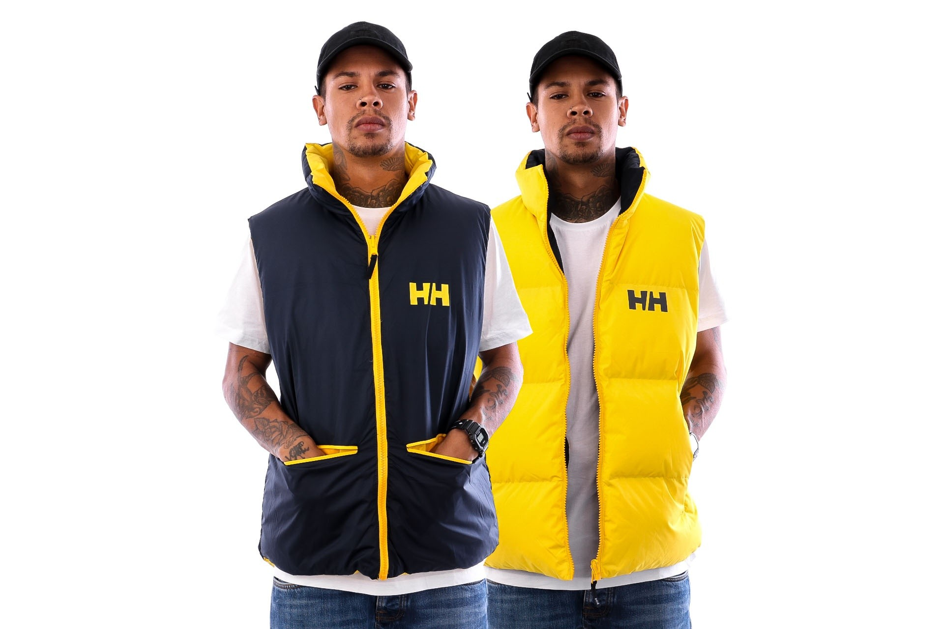 Foto van Helly Hansen HH URBAN REVERCIBLE VEST 29657 Bodywarmer YOUNG YELLOW