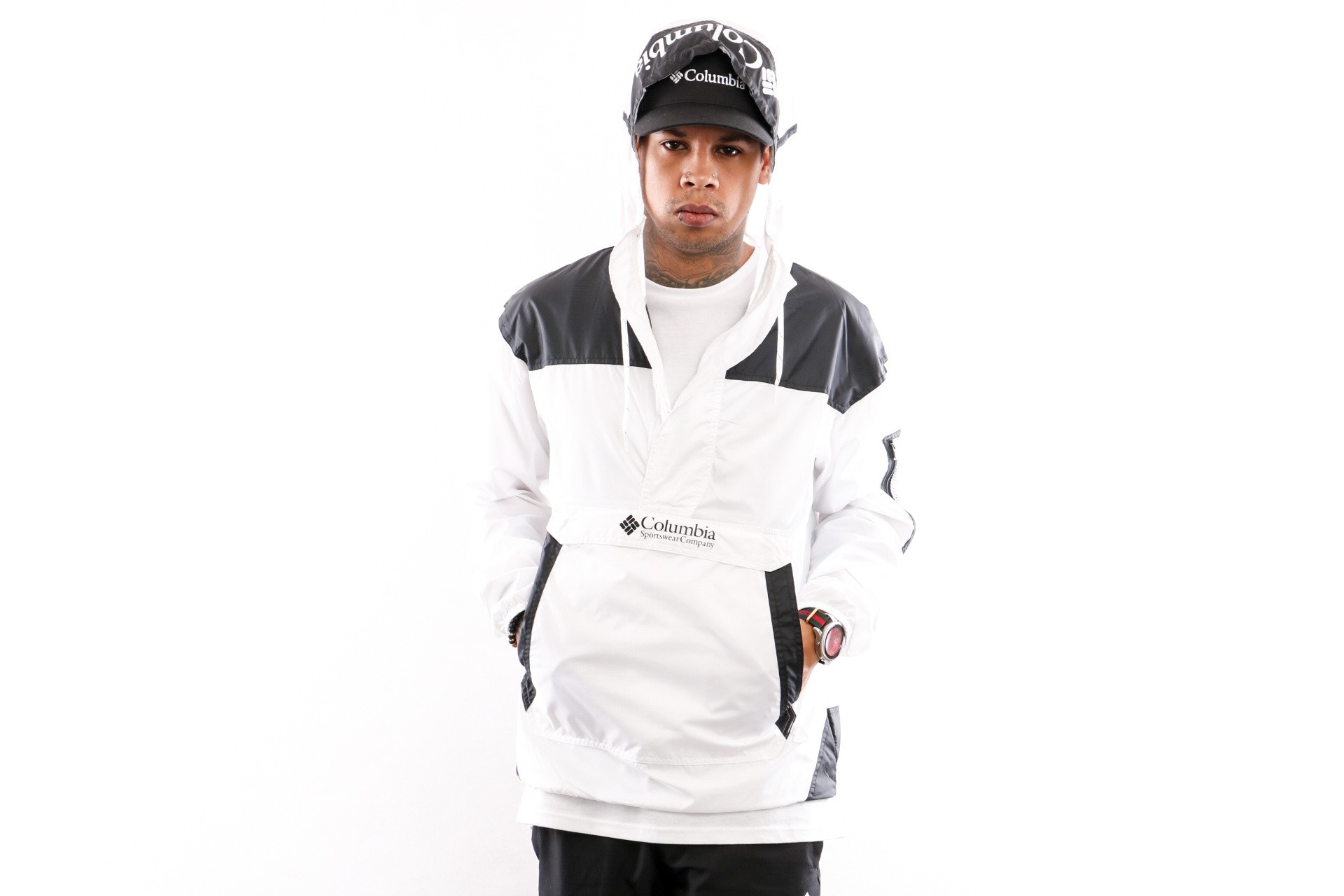 Foto van Columbia Challenger Windbreaker 1714291101 Jacket White Black