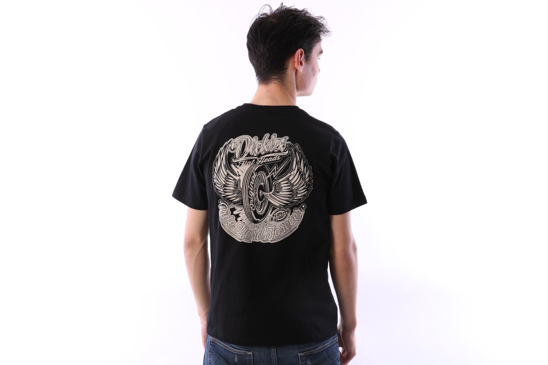 Foto van Dickies 06 210580-BK T-shirt Farnsworth Zwart