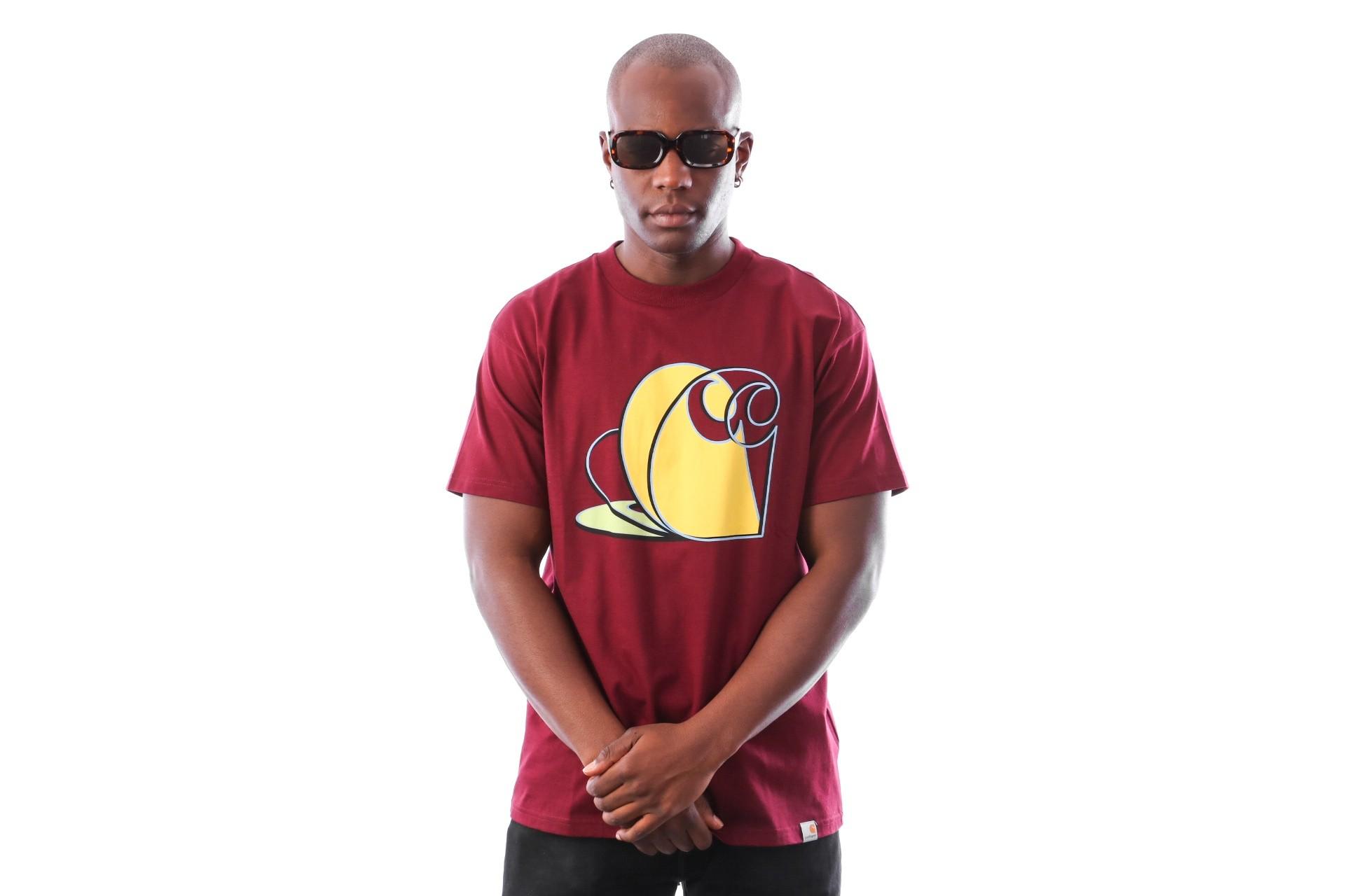 Foto van Carhartt WIP S/S Layer C T-Shirt I025773 T-Shirts Mulberry