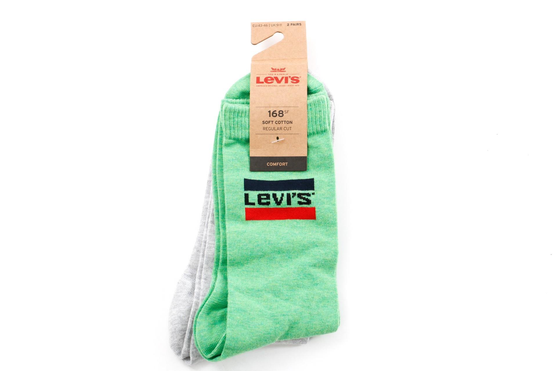 Foto van Levi'S Bodywear Regular Cut Sprtswr Logo 983041001 Sokken Green