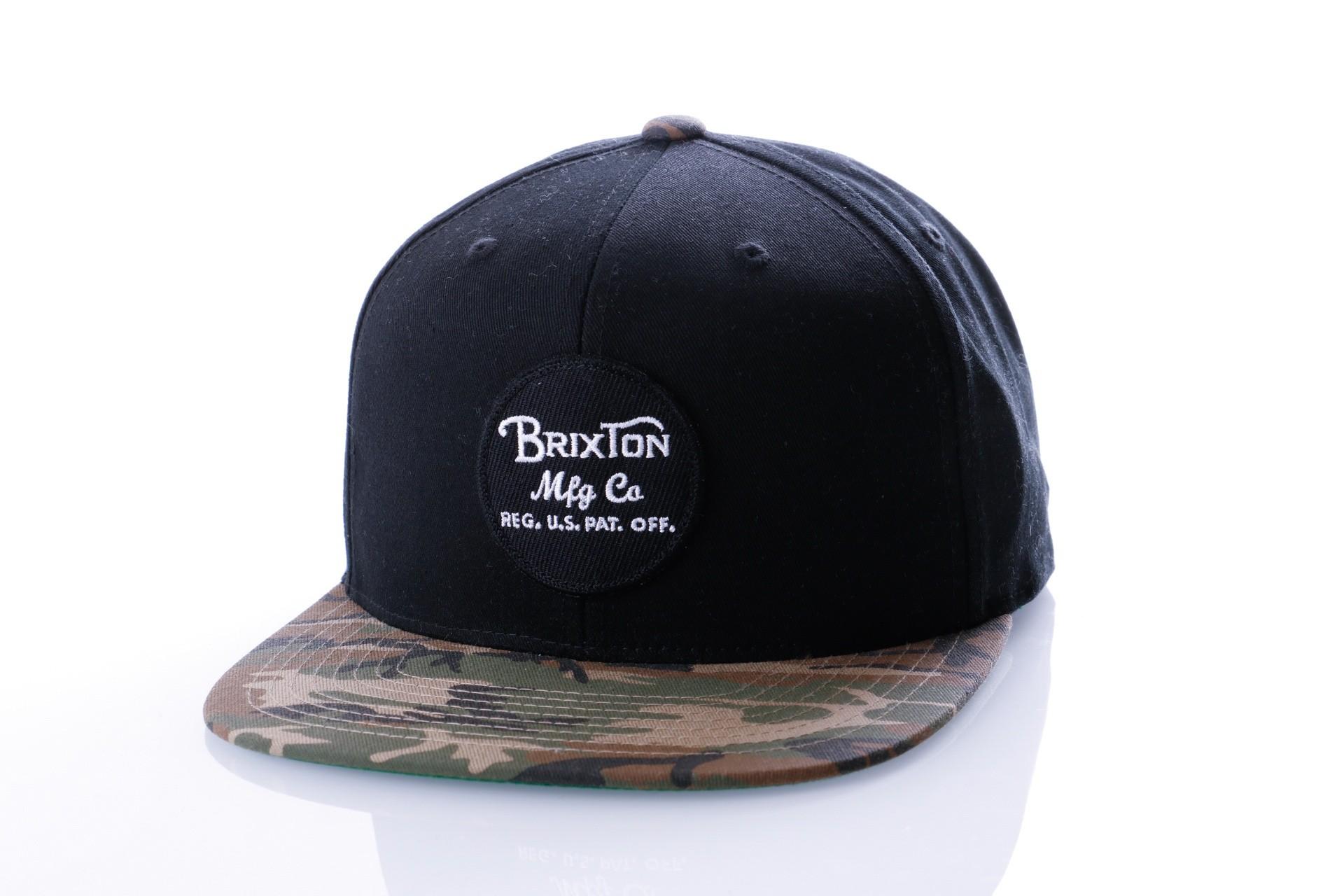 Foto van Brixton WHEELER SNAPBACK 375 snapback cap BLACK/CAMO