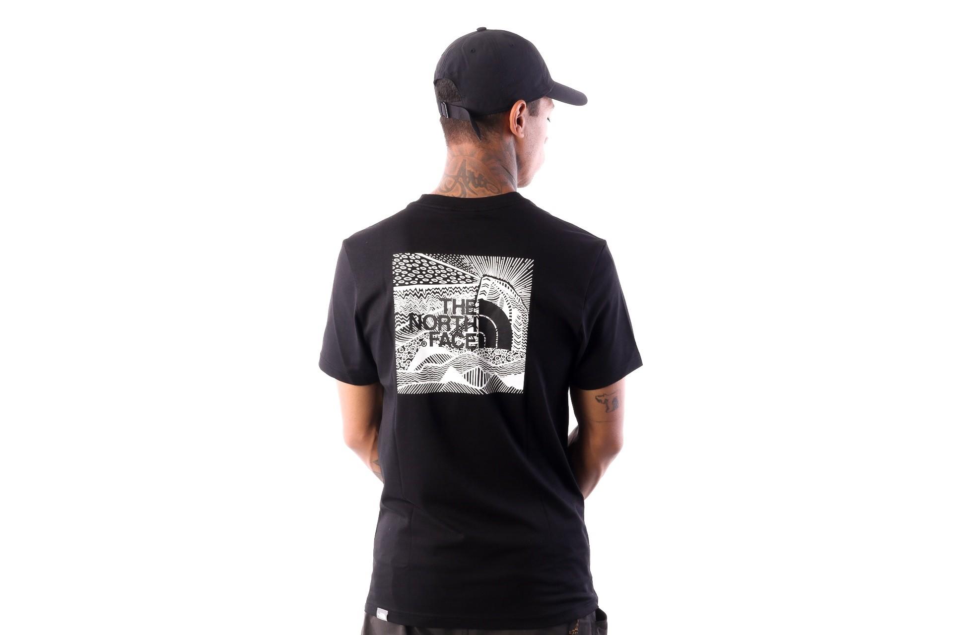 Foto van The North Face M SS REDBOX CEL TEE T92ZXEJK3 T shirt TNF BLACK