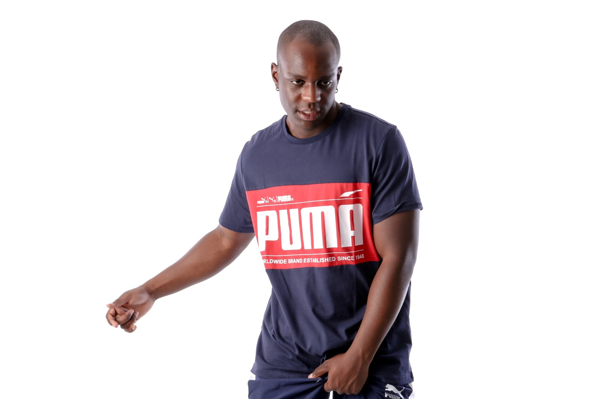 Foto van Puma Graphic Logi Block Tee 577126 T-Shirt Blue-Red
