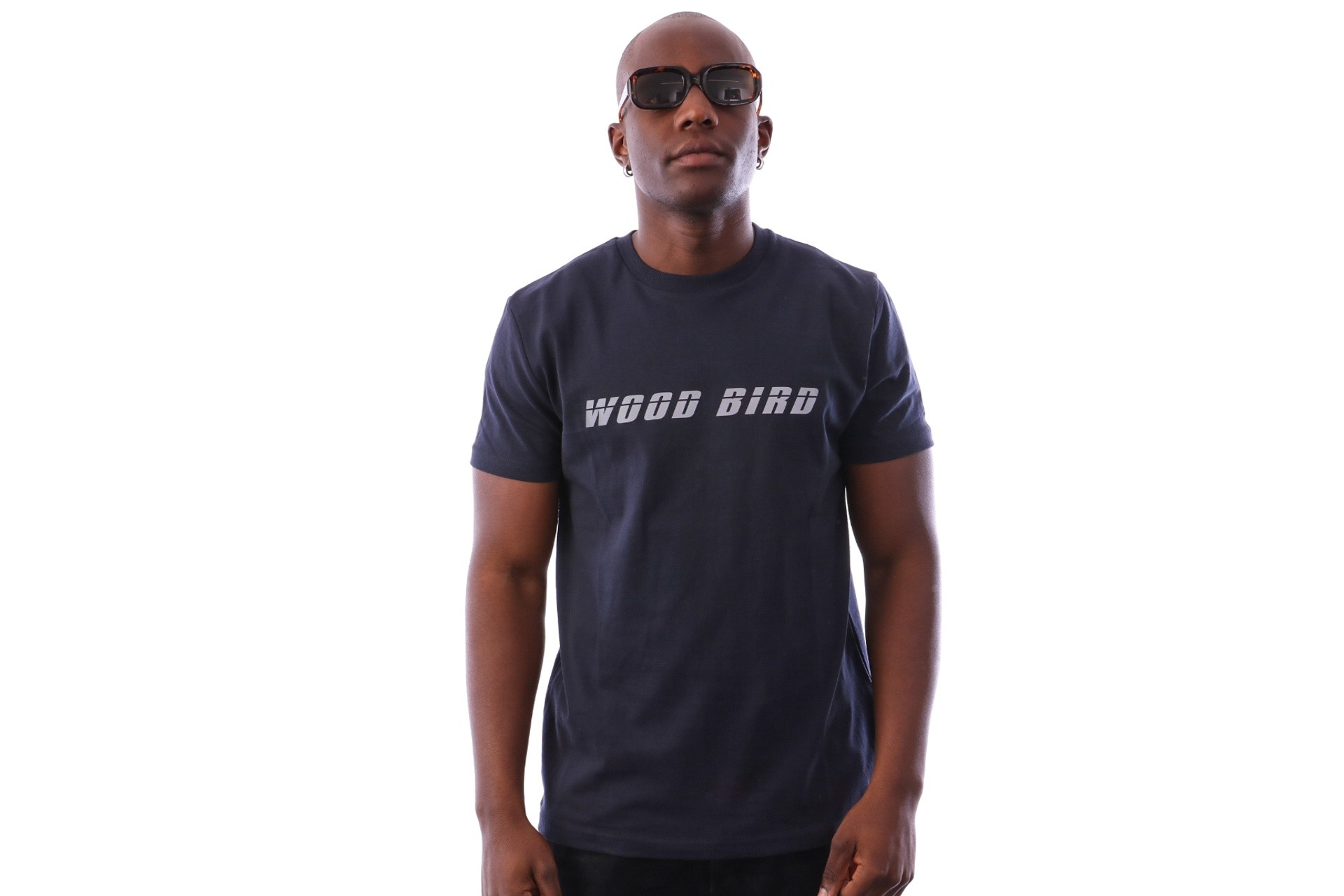 Foto van Wood Bird Runners Tee 1836-400 t-shirt Navy