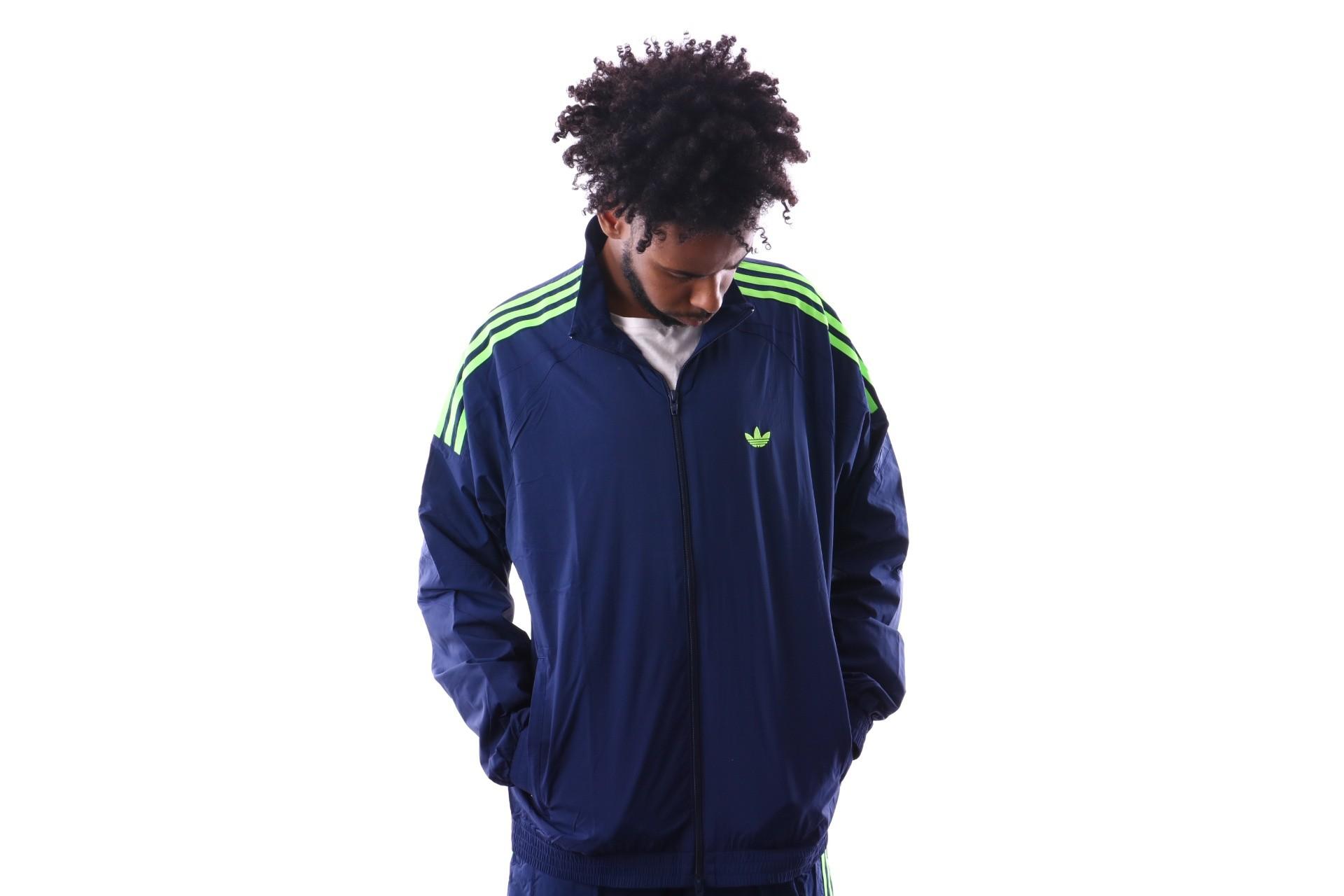 Foto van Adidas FLAMESTRK WV TT DU7338 Trainingsjas dark blue