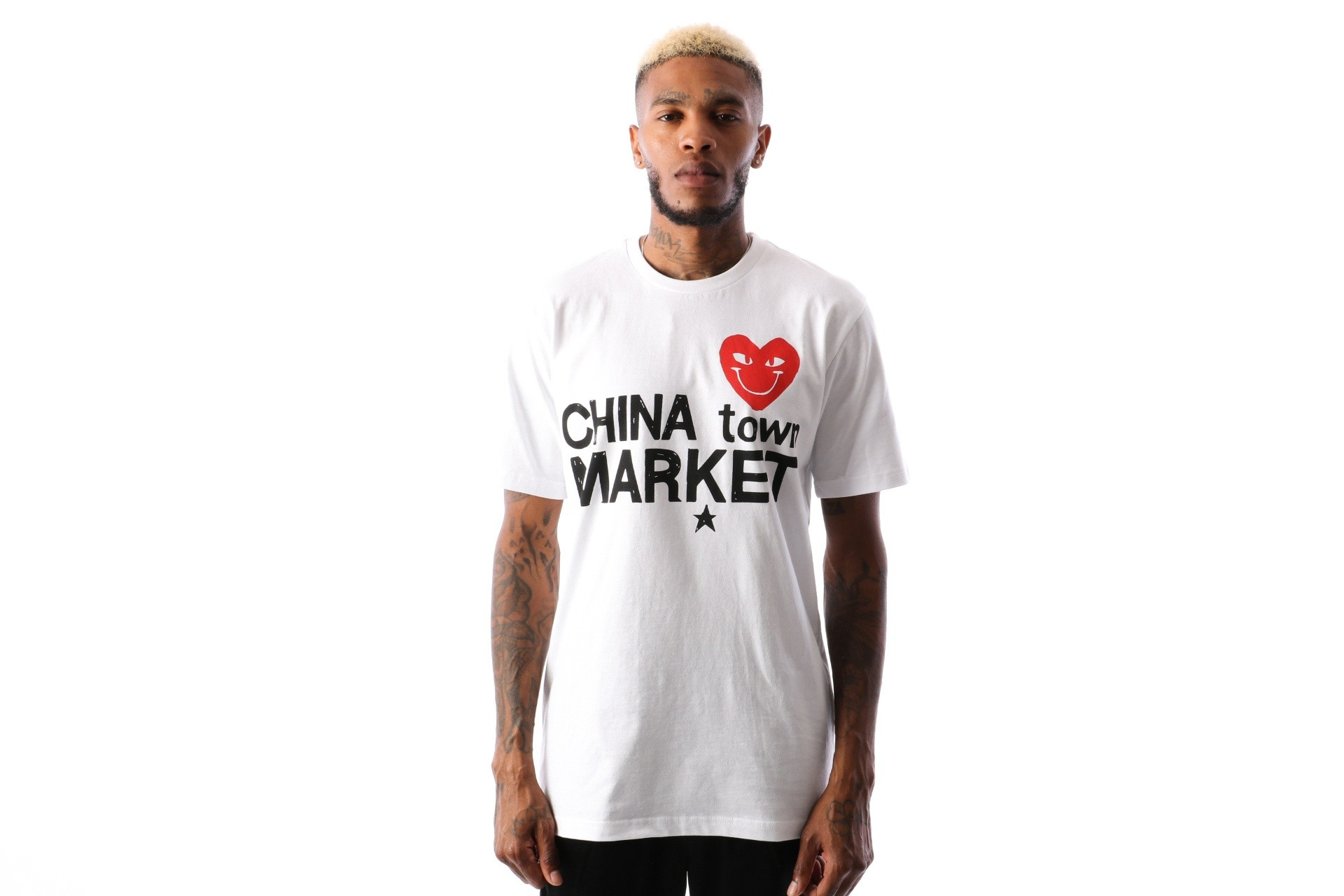Foto van Chinatown Market Comme De Chinatown CTM-CDC T shirt White