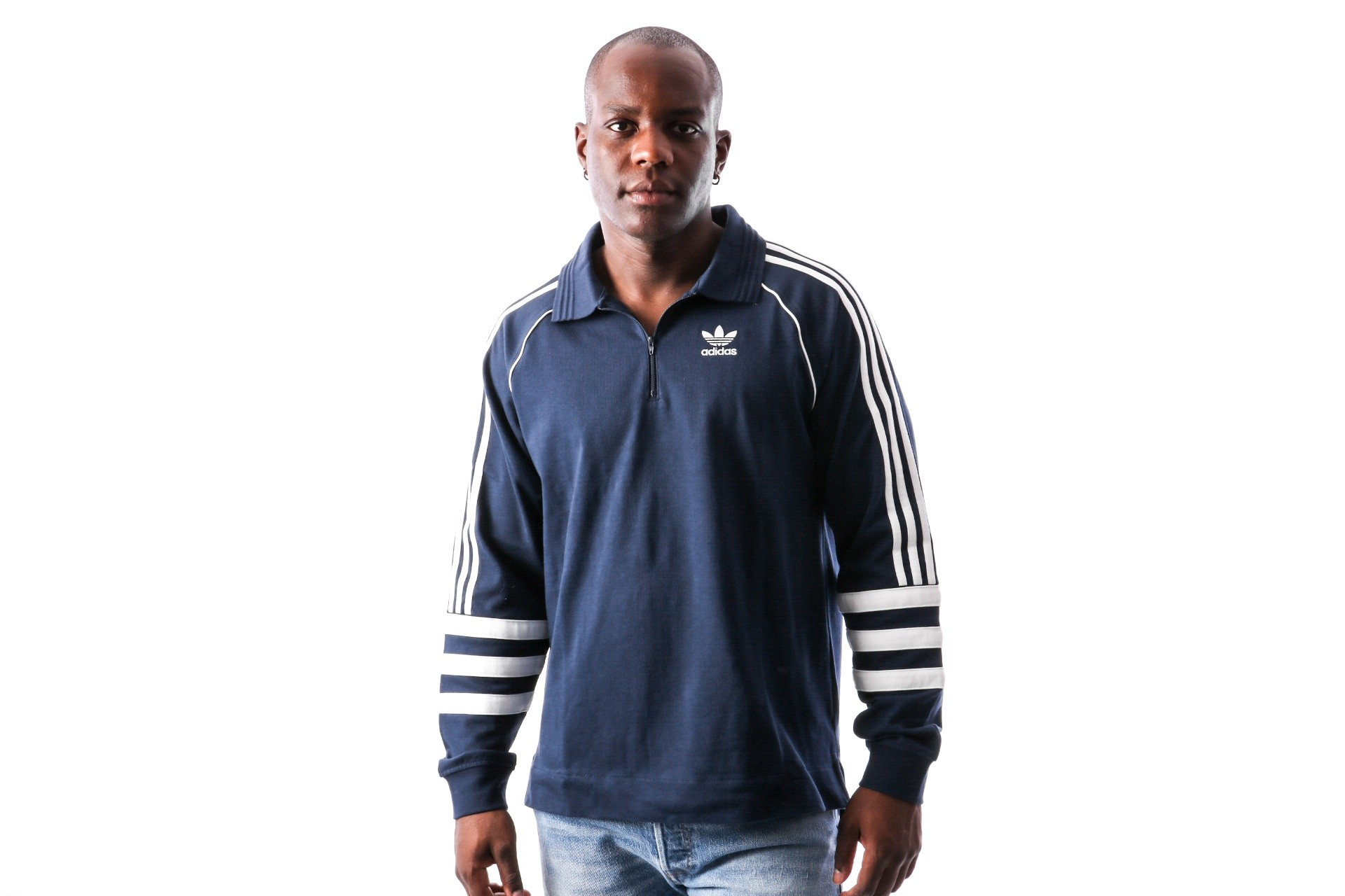 Foto van Adidas AUTH RUGBY DH3843 Polo Longsleeve COLL. NAVY