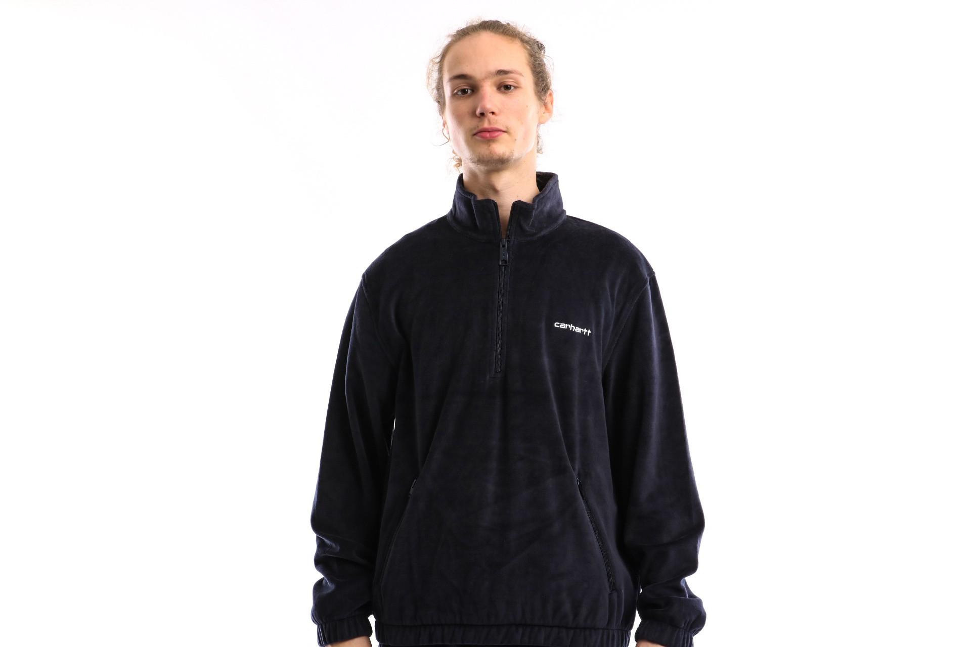 Foto van Carhartt WIP Tila Pullover I027790 Track jacket Dark Navy / White