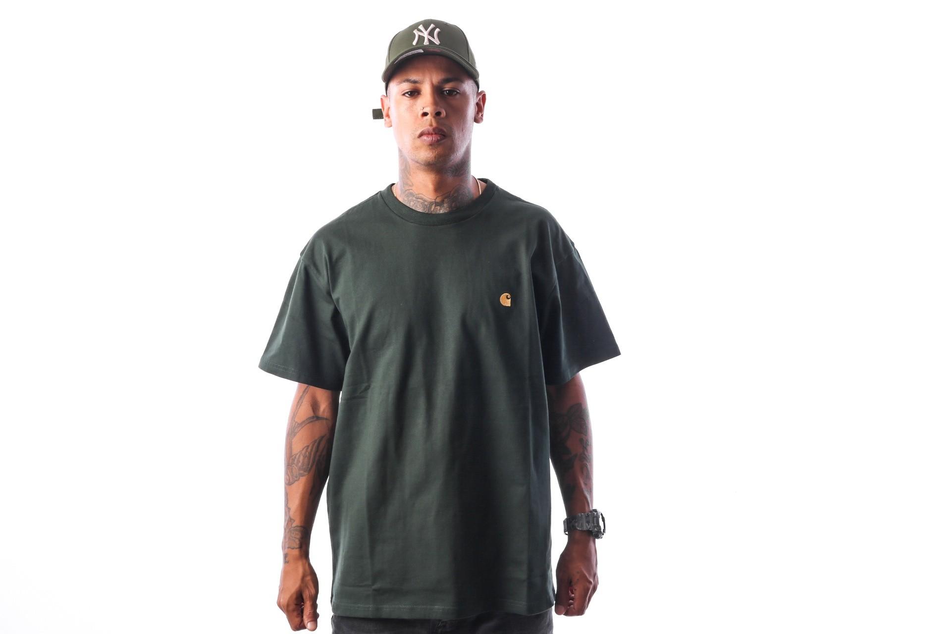 Foto van Carhartt WIP S/S Chase T-Shirt I021949 T-shirt Loden / Gold