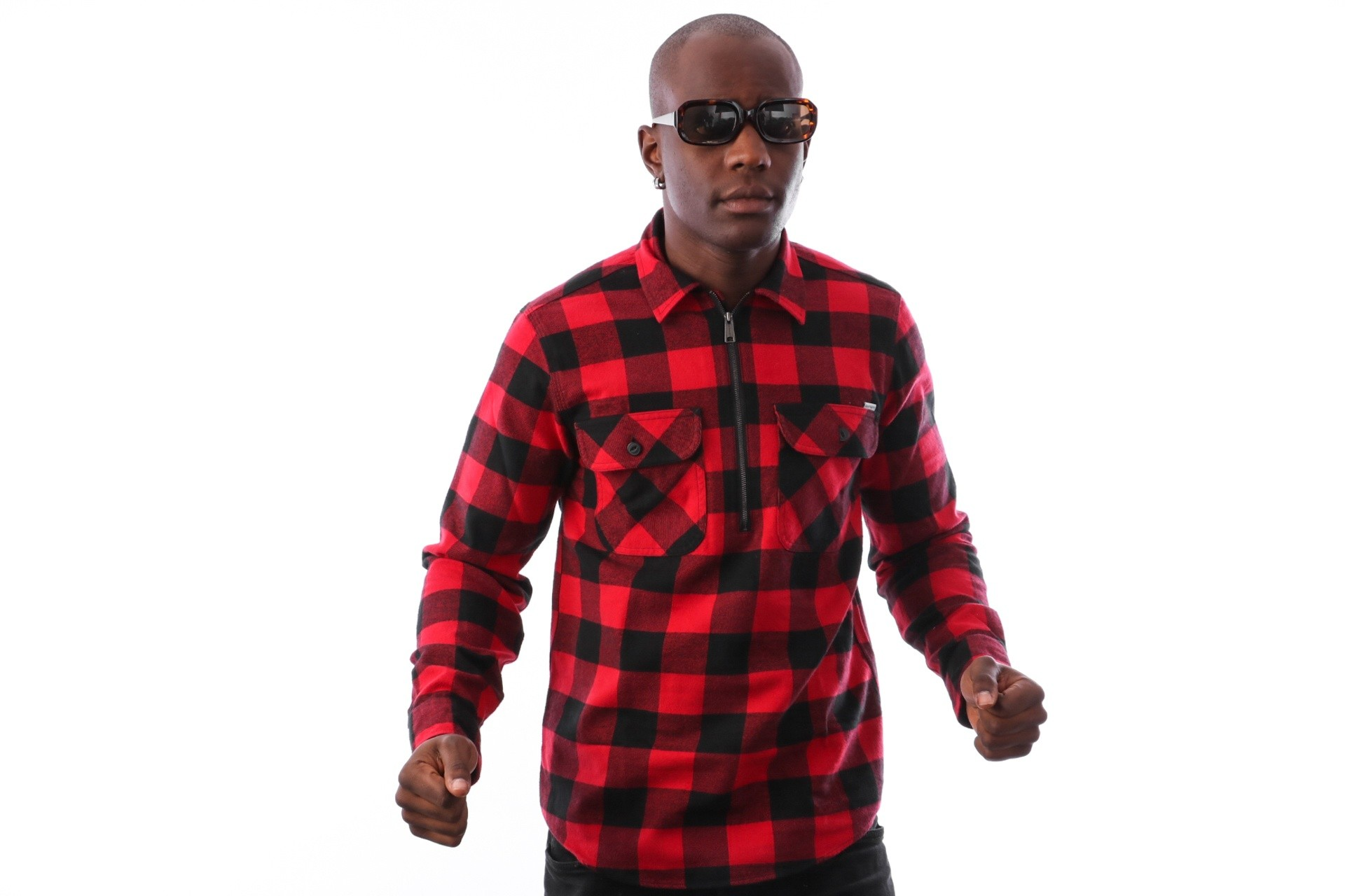 Foto van Carhartt WIP L/S Francis Shirt I025231 blouse Francis Check, Blast Red