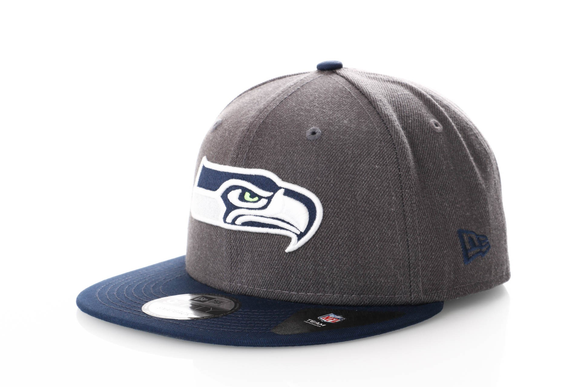 Foto van New Era Nfl Heather 9Fifty 11871350 Snapback Cap Graphite/Offical Team Colour Nfl Seattle Seahawks