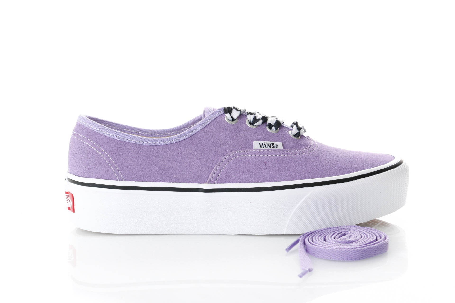 Foto van Vans Ua Authentic Platform 2.0 Vn0A3Av8S1V Sneakers (Checkerboard Lace) Violet Tulip/True White