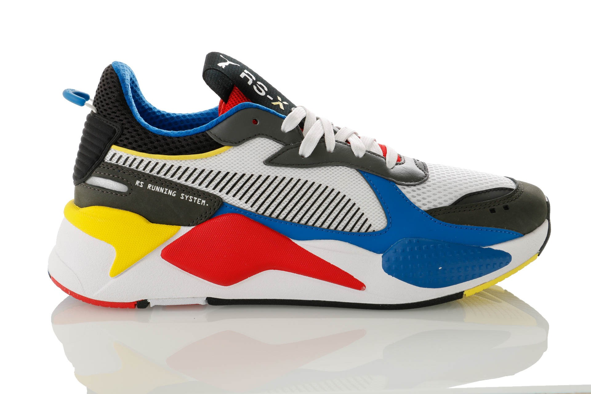 Foto van Puma RS-X TOYS 369449 Sneakers Puma White-Puma Royal-High Risk Red
