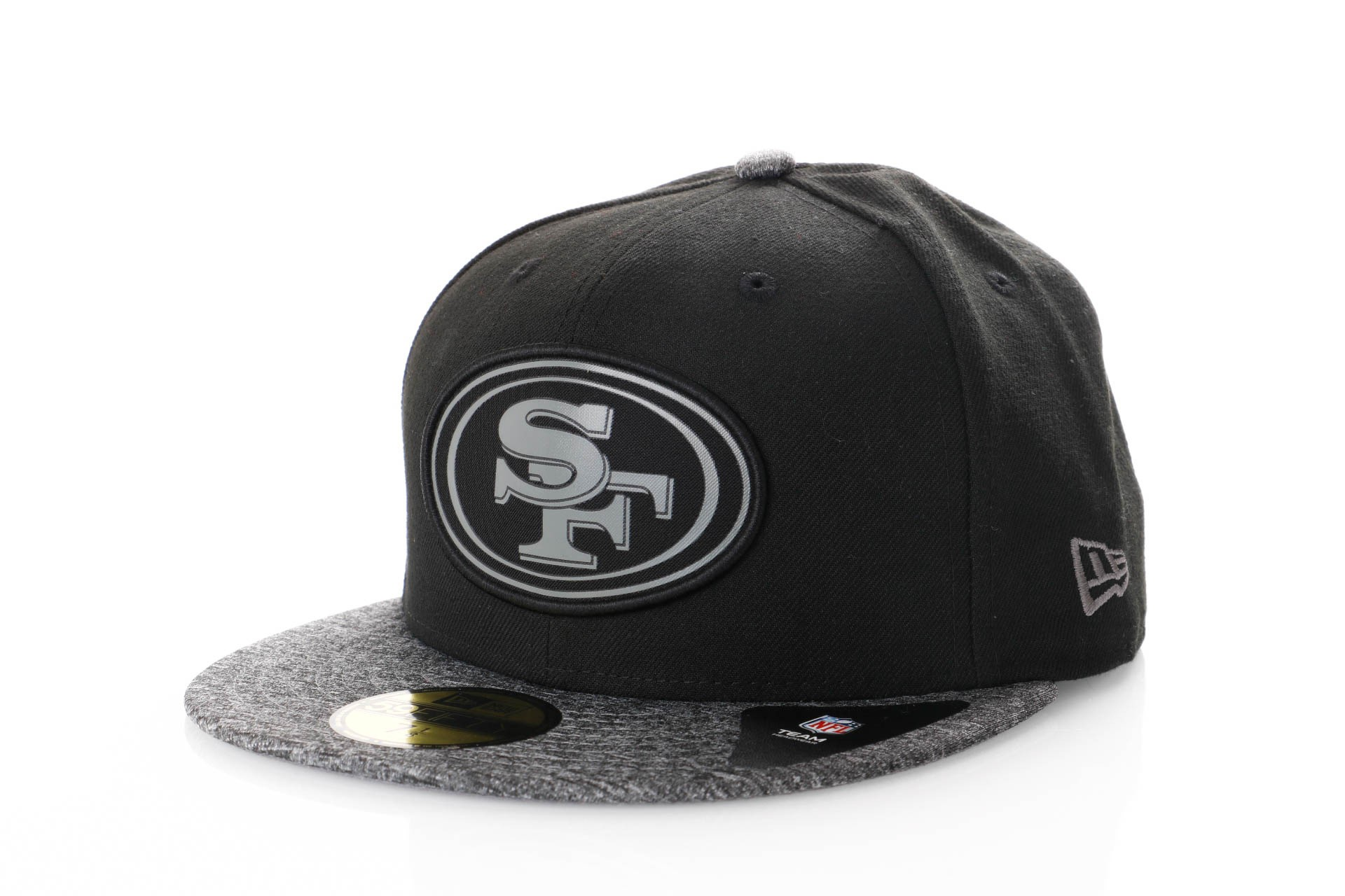 Foto van New Era Melange Two Tone Fitted Cap Grey Nfl San Francisco 49Ers