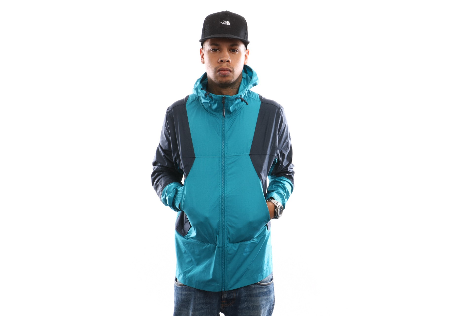 Foto van The North Face M Mnt Lht Windsh Jkt T93RYS8EE Jas Crystal Teal