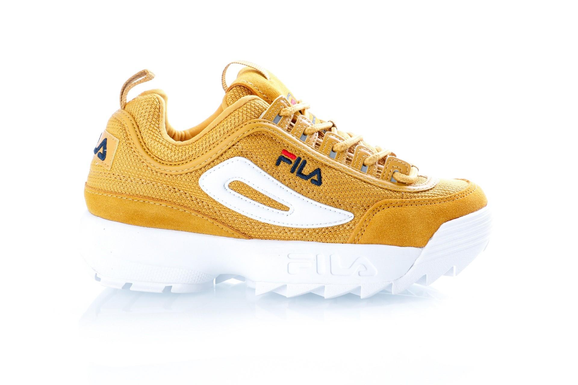 Foto van Fila Disruptor Mesh low wmn 1010438 Sneakers inca gold