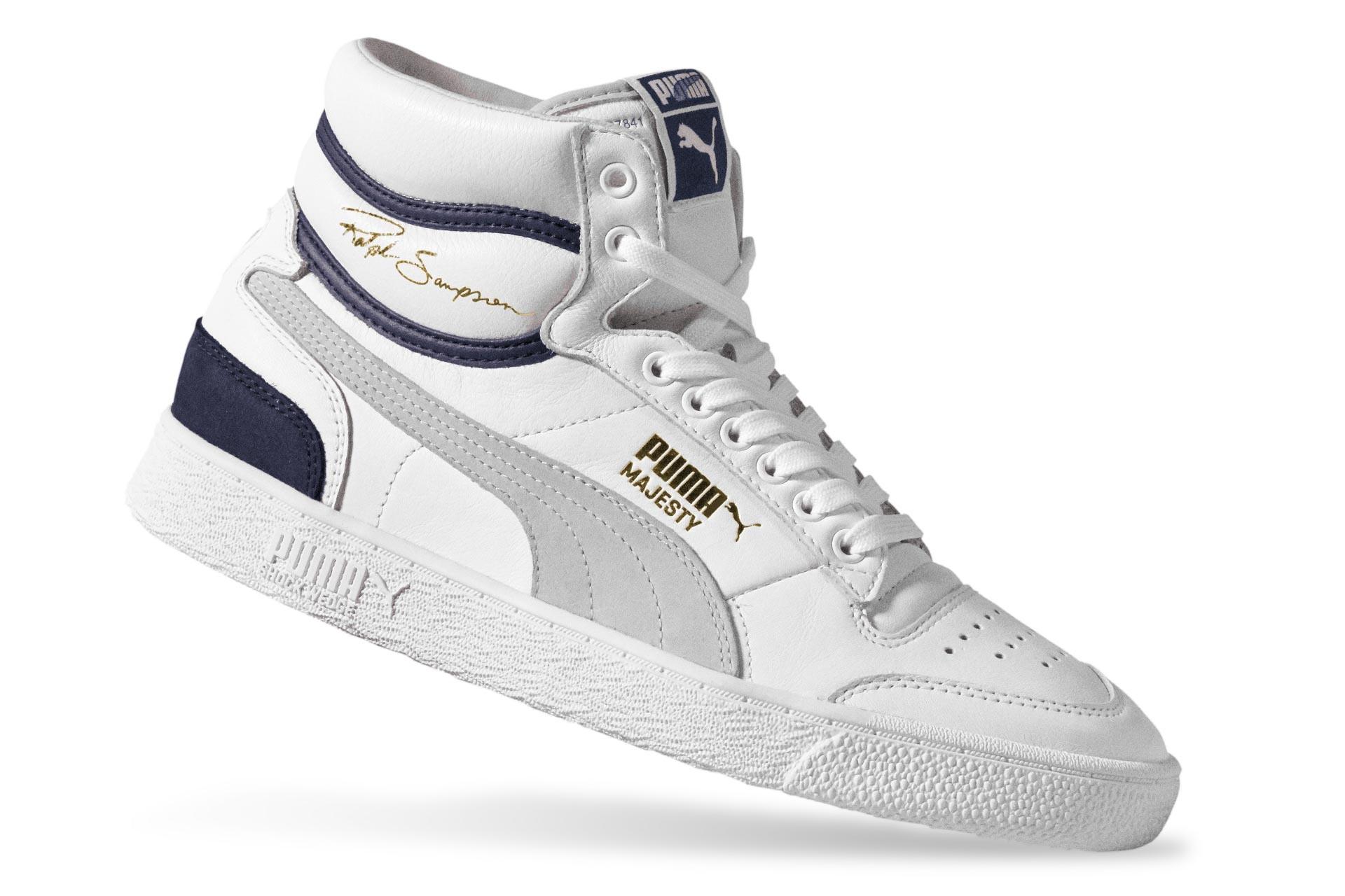 Foto van Puma Ralph Sampson Mid Og 370718 01 Sneakers Puma White-Gray Violet-Peacoat April