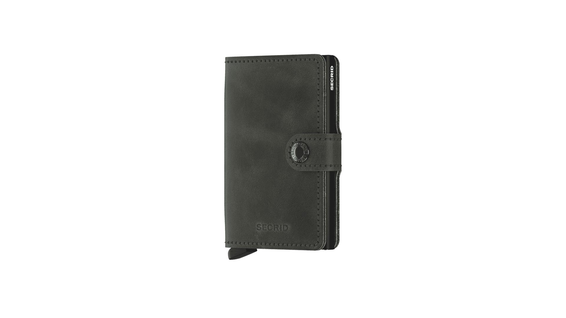 Foto van Secrid MV-OLIVE/BLACK Wallet Miniwallet vintage Olive -Black