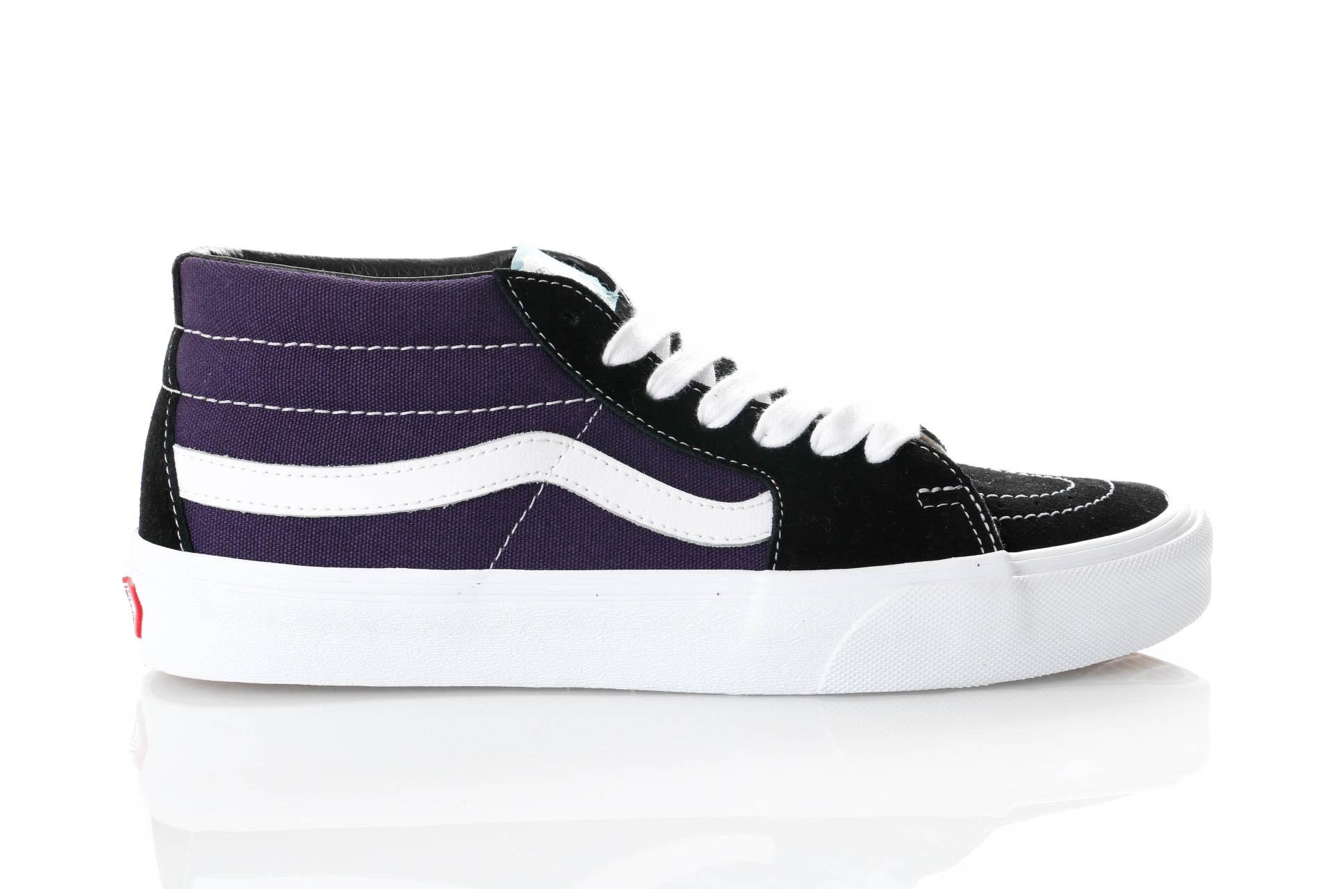 Foto van Vans Ua Sk8-Mid Vn0A3Wm3Vp7 Sneakers (Retro Skate) Black/Mysterioso
