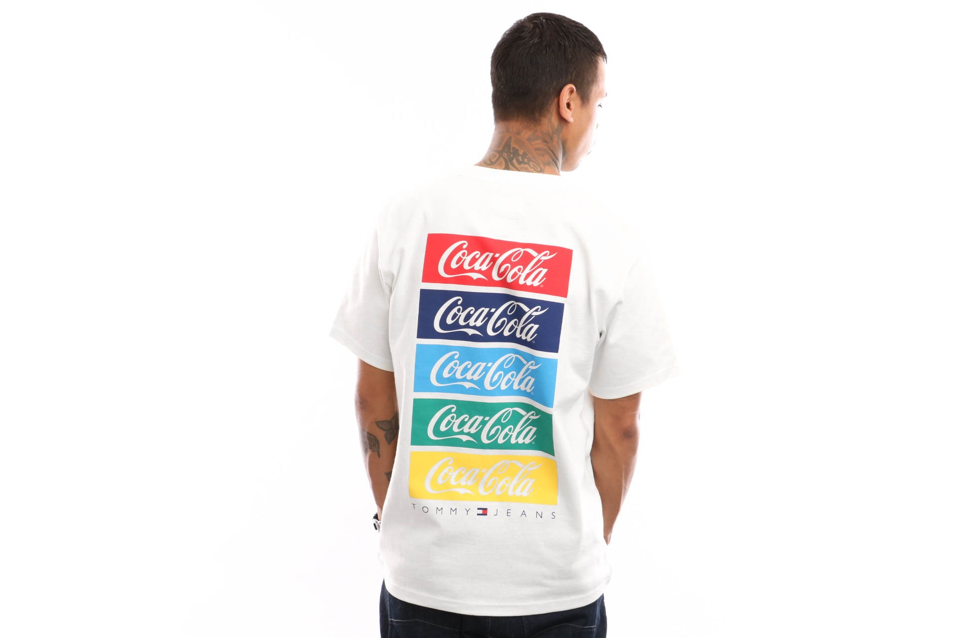 Foto van Tommy Hilfiger Tjm Tommy X Coca Cola Repeat Tee Dm0Dm06901 T Shirt Bright White