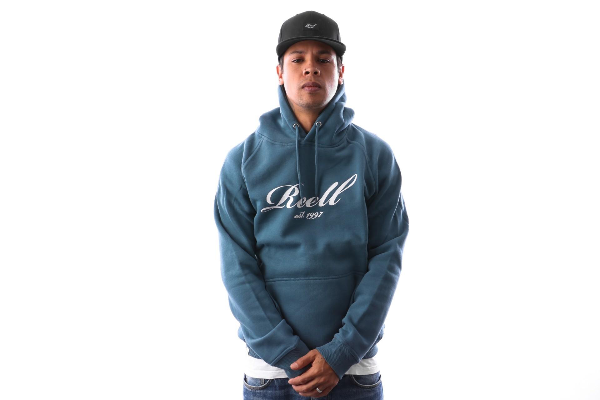 Foto van Reell Logo Hoodie 1305-015 Hooded Tap Blue