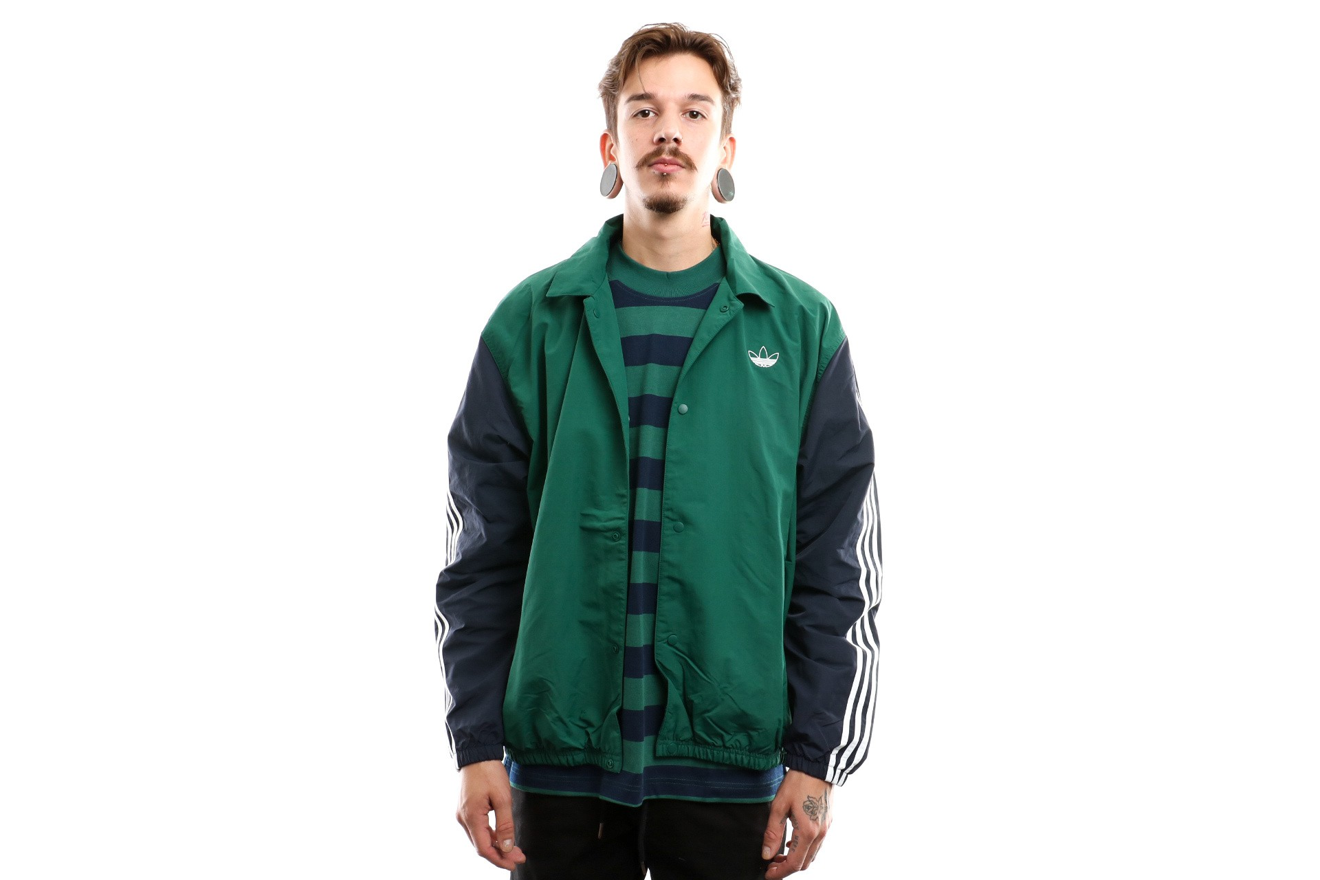 Foto van Adidas Trefoil Coach J Ej7109 Coach Jacket Collegiate Green/Legend Ink