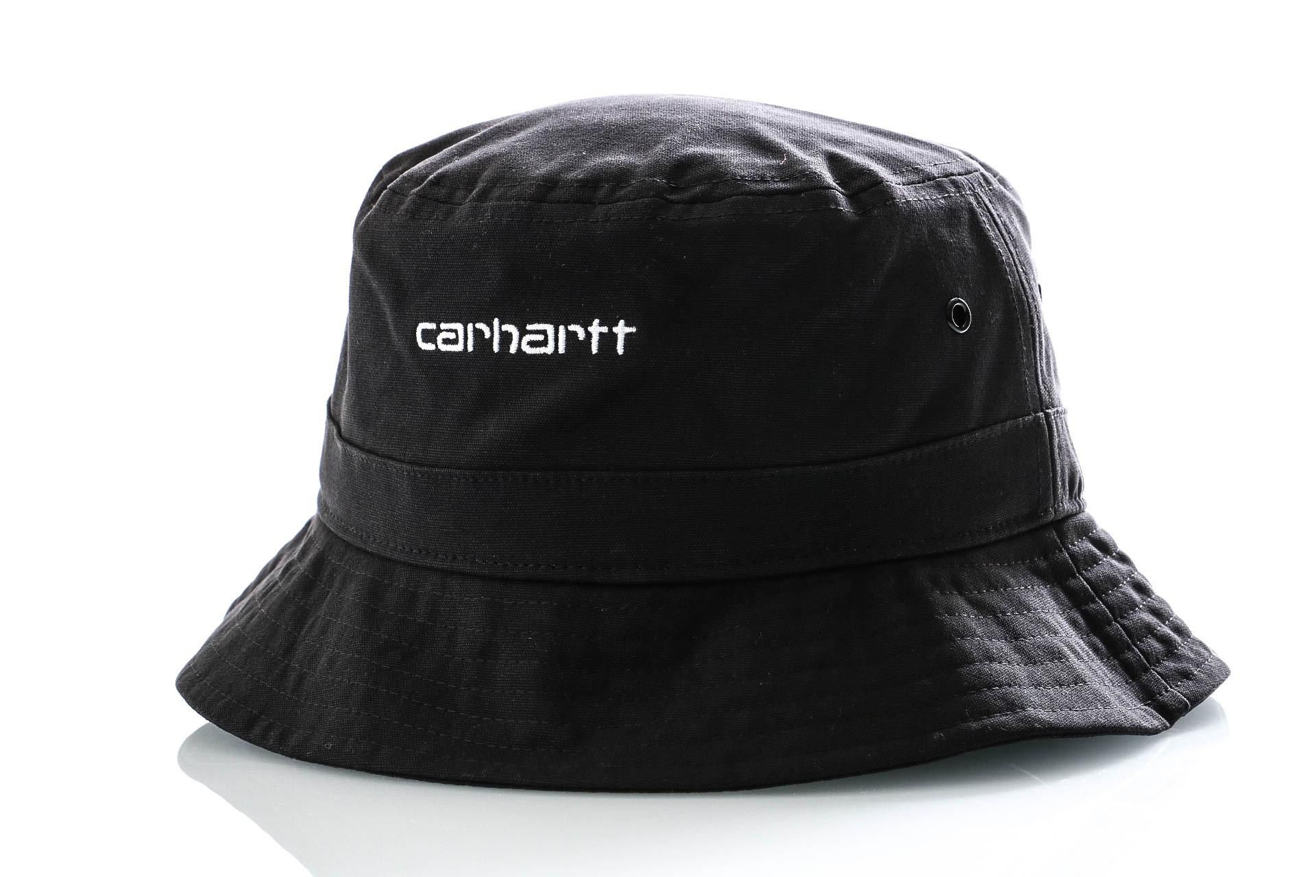 Foto van Carhartt Bucket Script Bucket Hat Black / White I026217