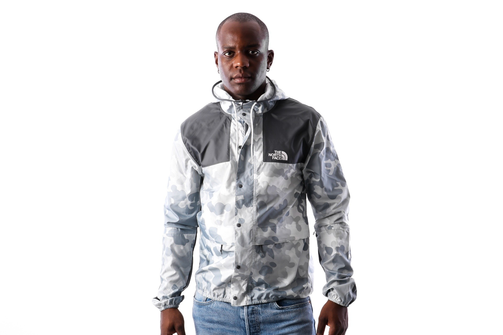 Foto van The North Face M 1985 MOUNTAIN JKT T0CH375XQ Jas TNF WHITE MACROFLECK PRNT