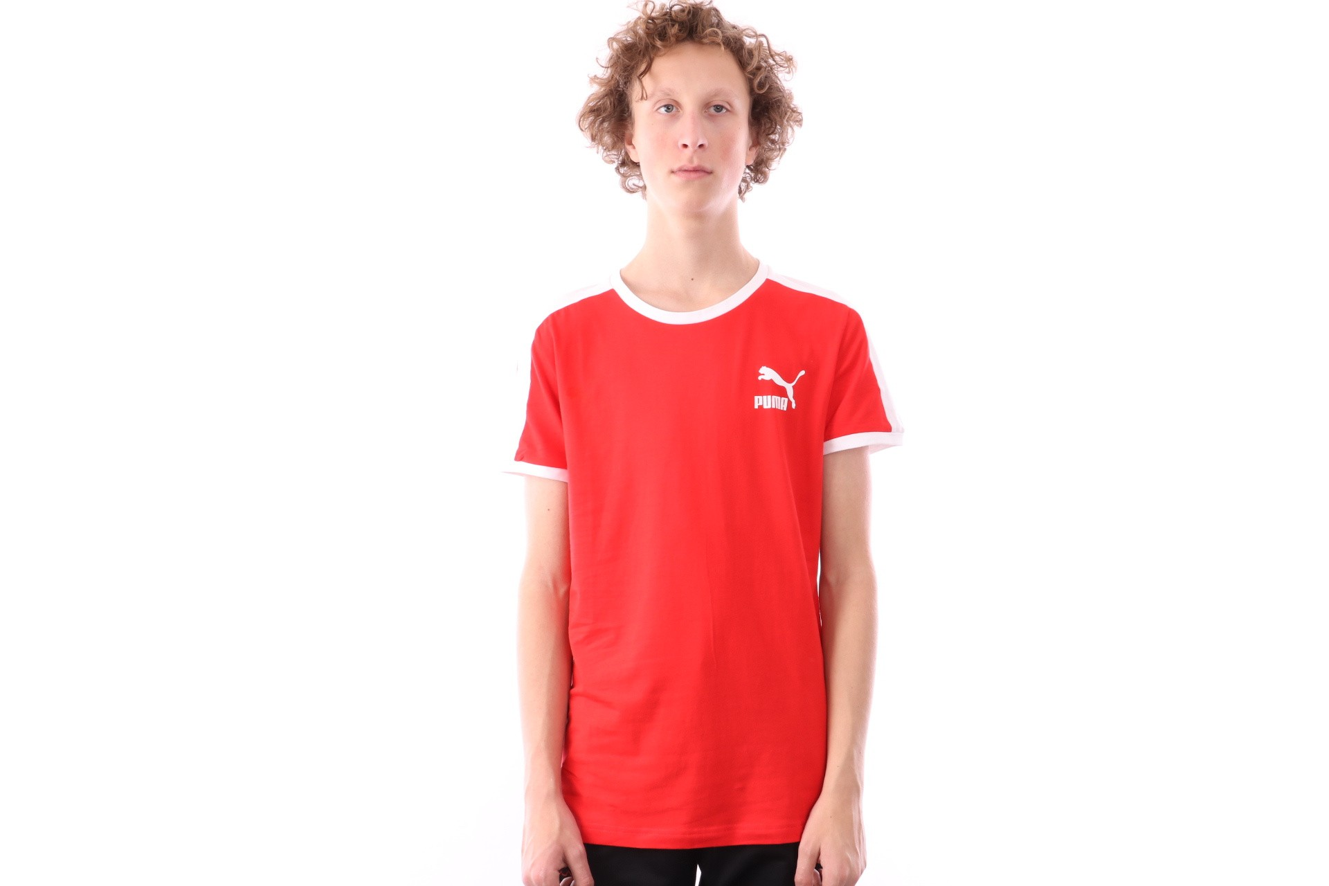 Foto van Puma Iconic T7 Tee 577979 T shirt High Risk Red