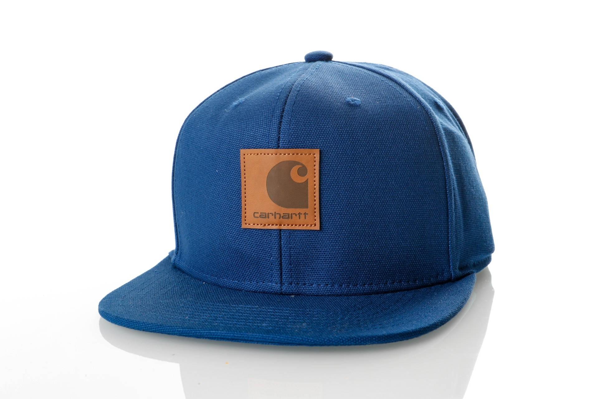 Foto van Carhartt WIP Logo Cap I023099 Snapback cap Metro Blue