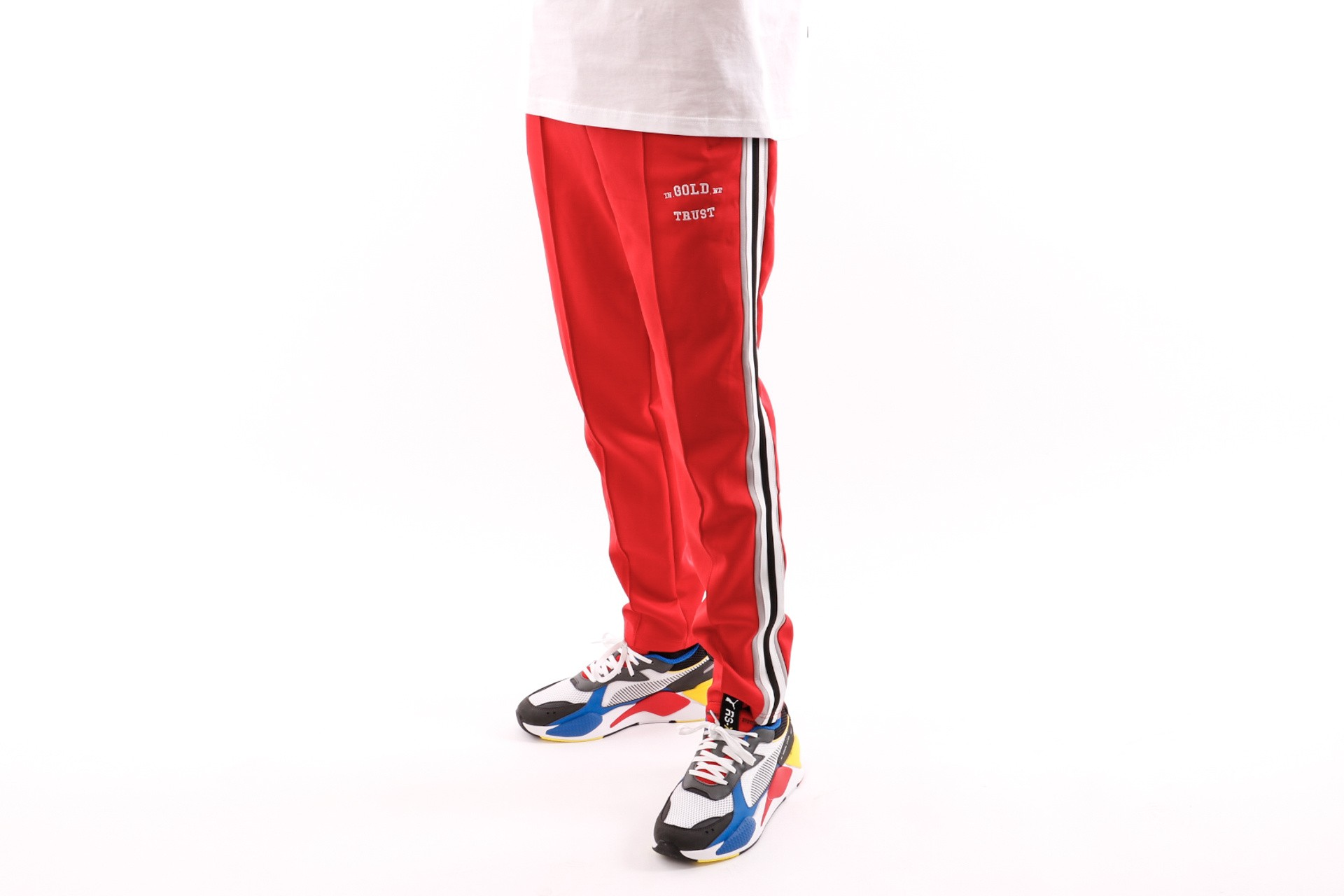 Foto van In Gold We Trust Logo Trackpant FAP-031 Trainingsbroek Red