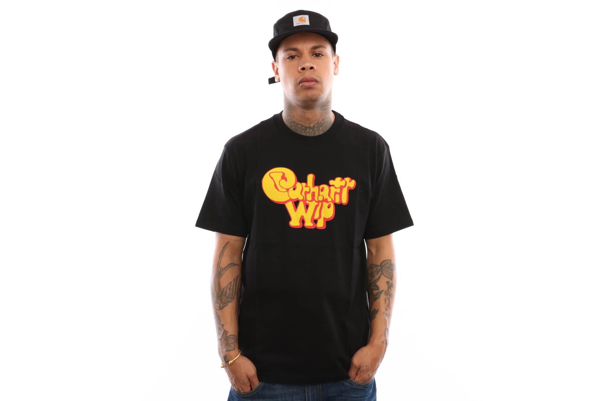 Foto van Carhartt Wip S/S Bubble Gum T-Shirt I026438 T Shirt Black