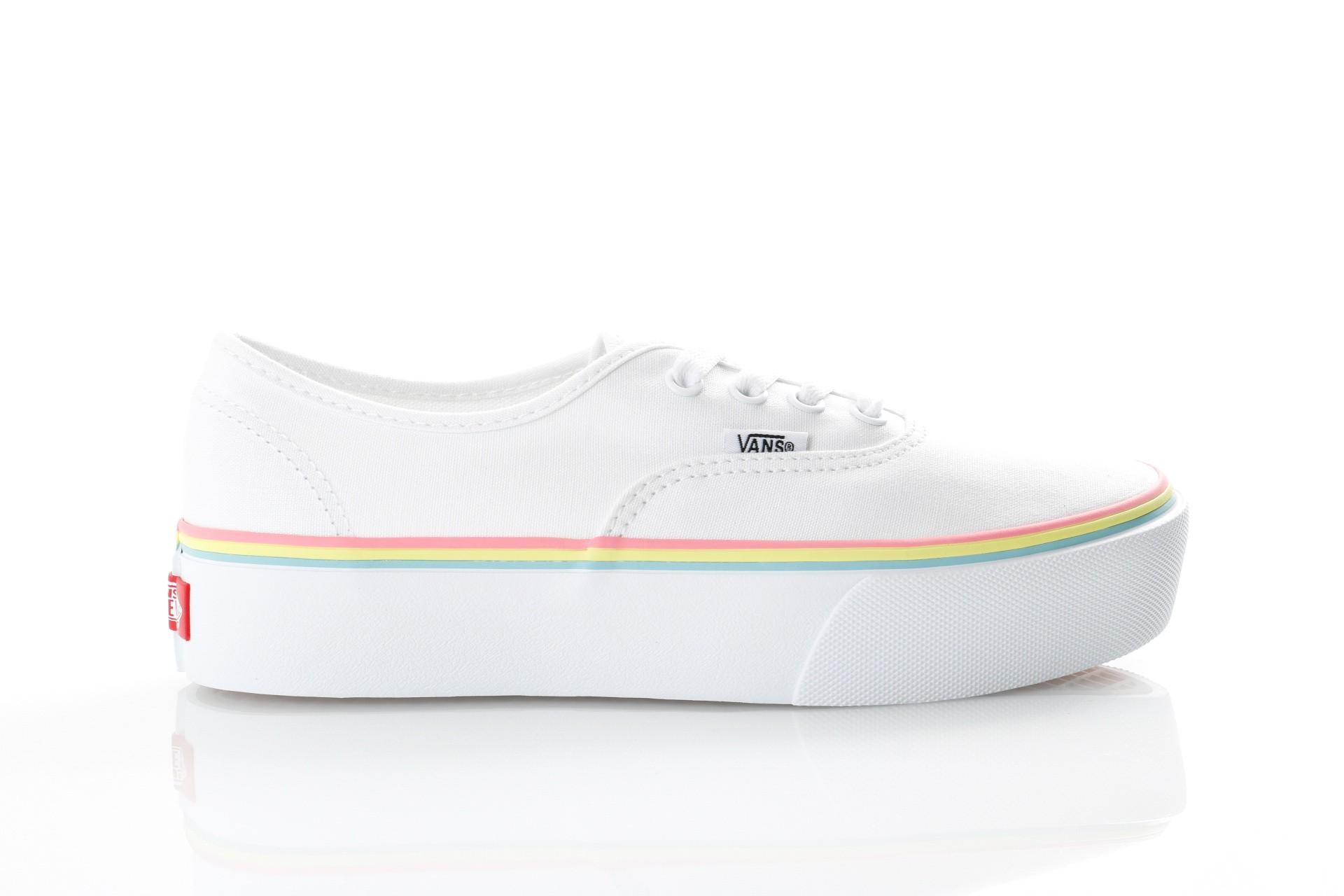 Foto van Vans UA Authentic Platform 2.0 VN0A3AV8S1T Sneakers (Rainbow Foxing) true white/strawberry pink