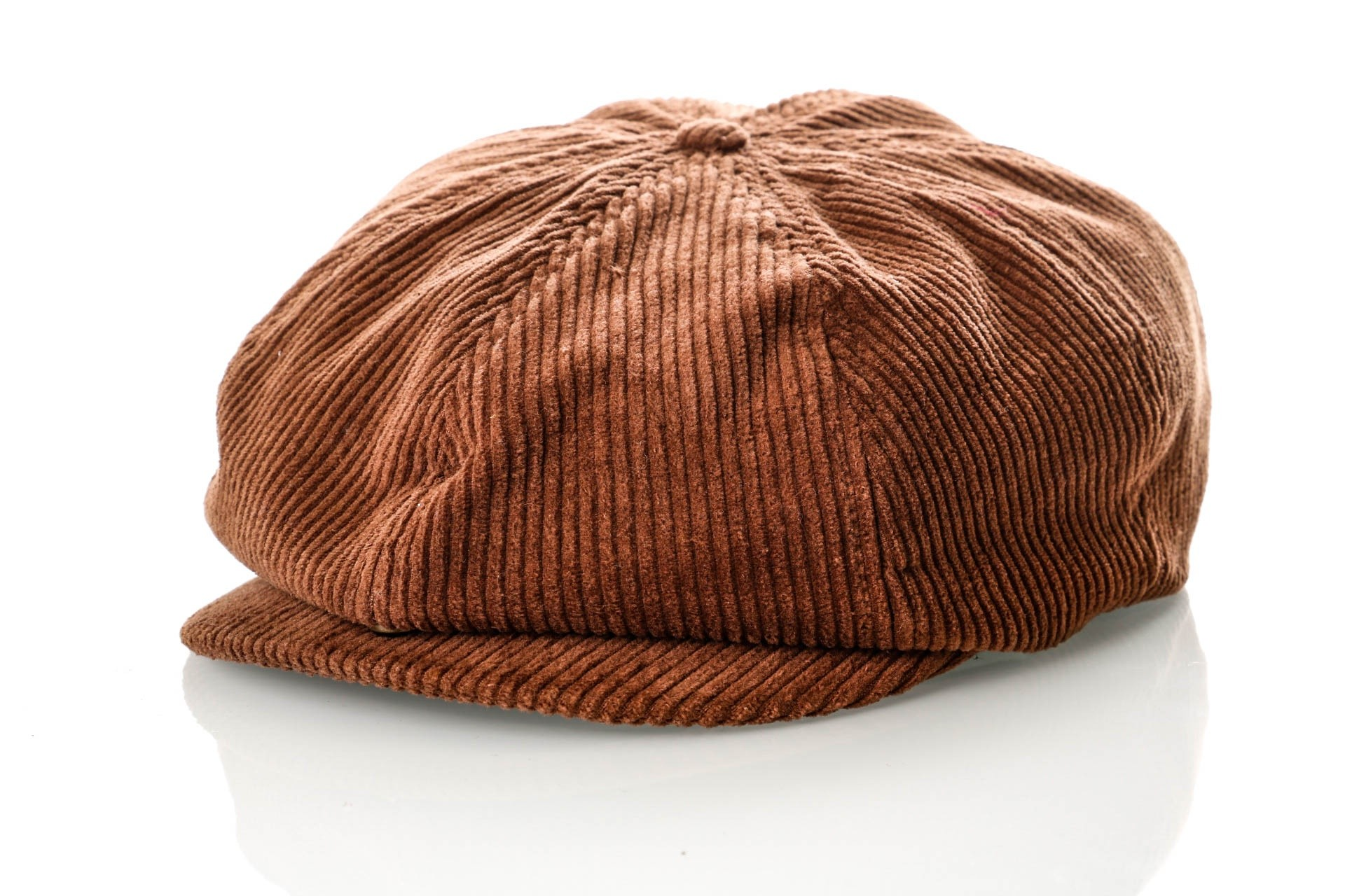 Foto van Brixton BROOD SNAP CAP 6 Flatcap BROWN CORD