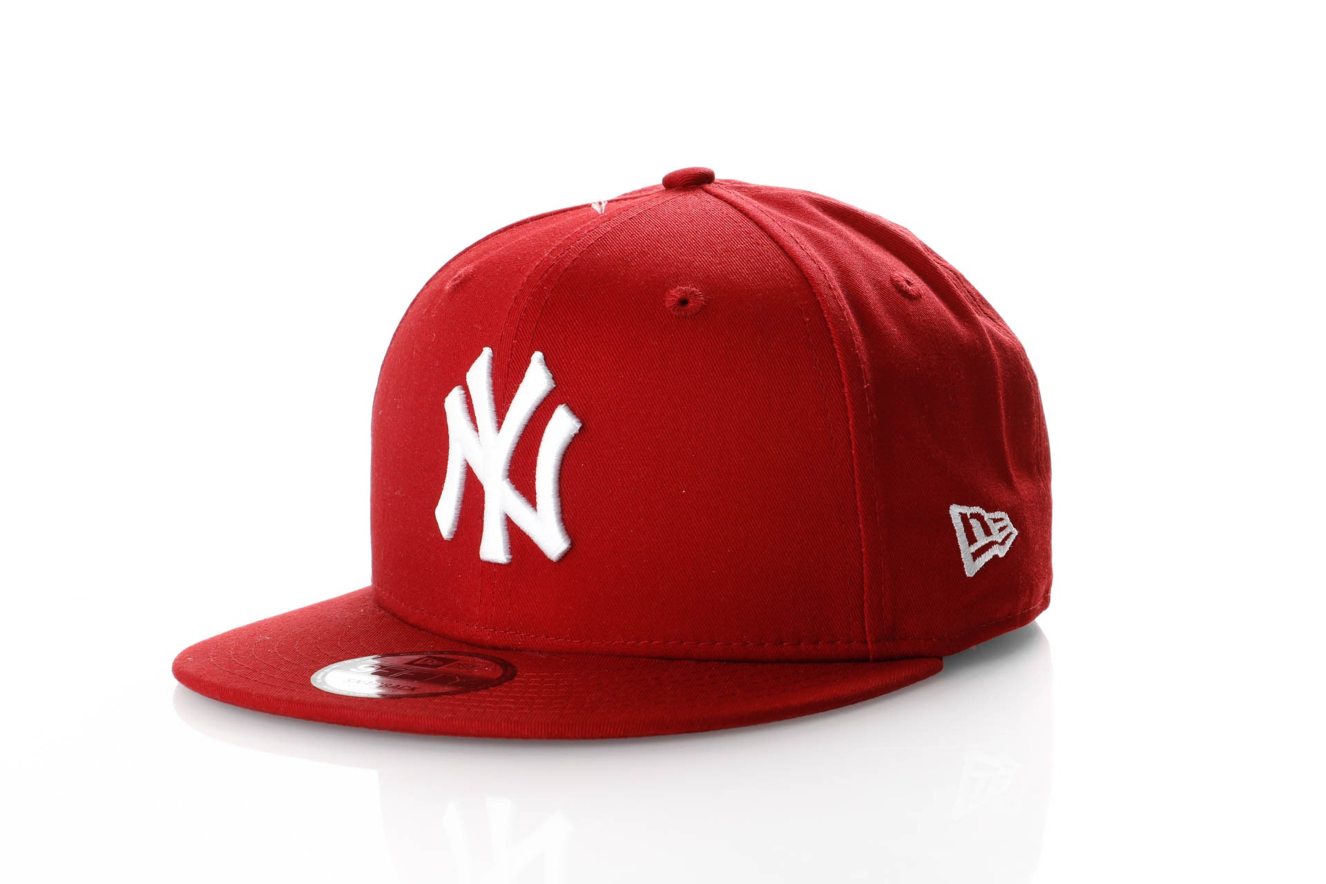 Foto van New Era League Essential 9Fifty 11871485 Snapback Cap Hot Red/Optic White Mlb New York Yankees