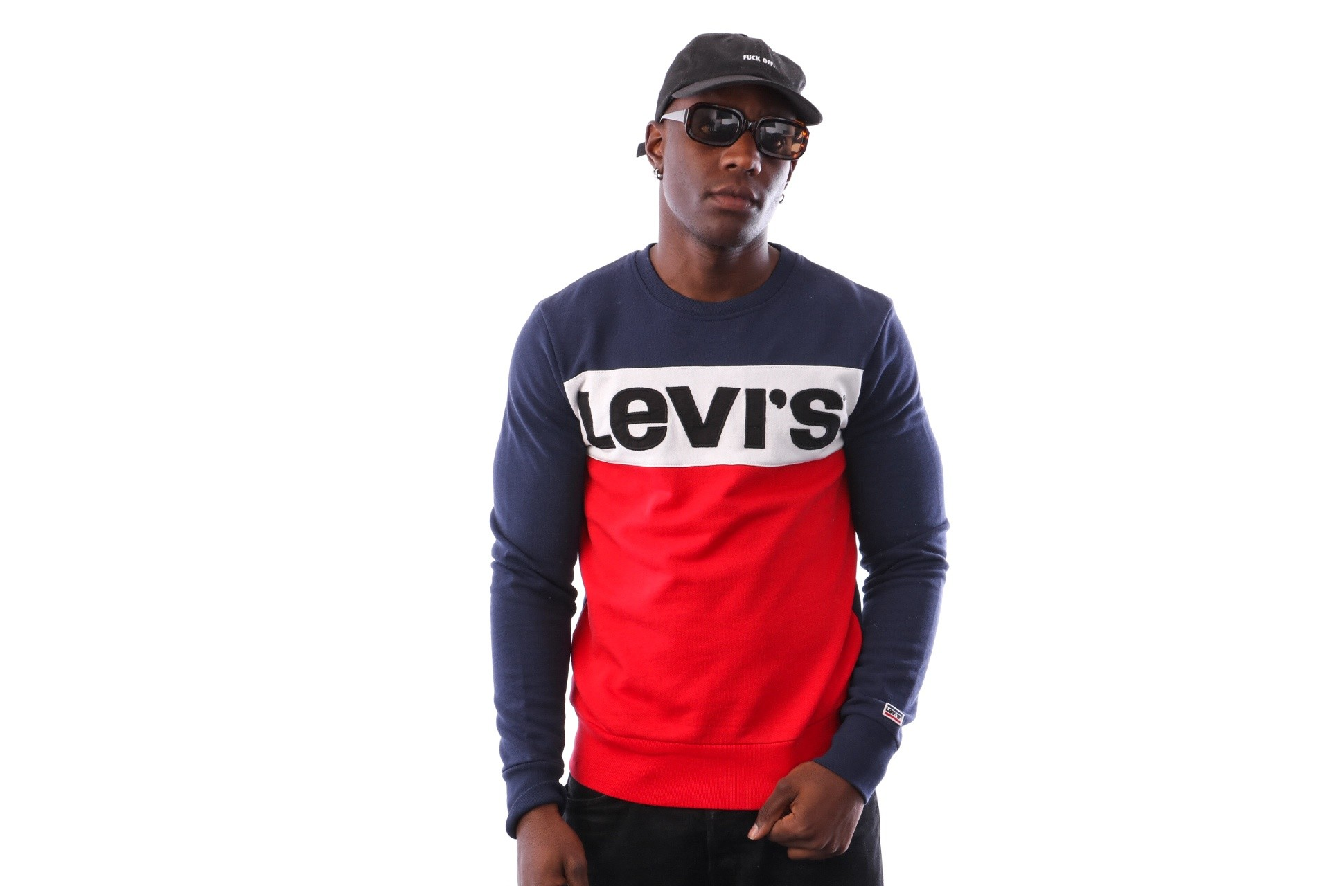 Foto van Levi`s Colorblock Crewneck 52604-0001 Blues / Marshmallow / Eden / Black