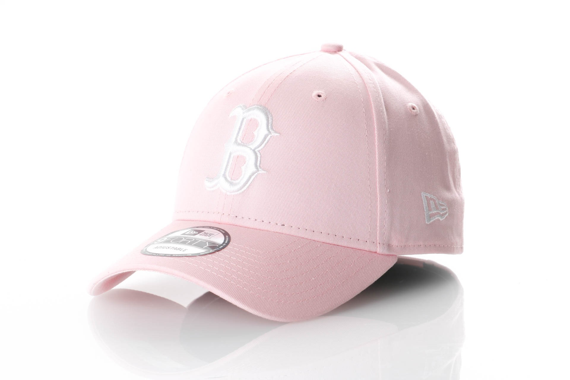 Foto van New Era League Essential 9Forty 11871483 Dad Cap Pink/Optic White Mlb Boston Red Sox