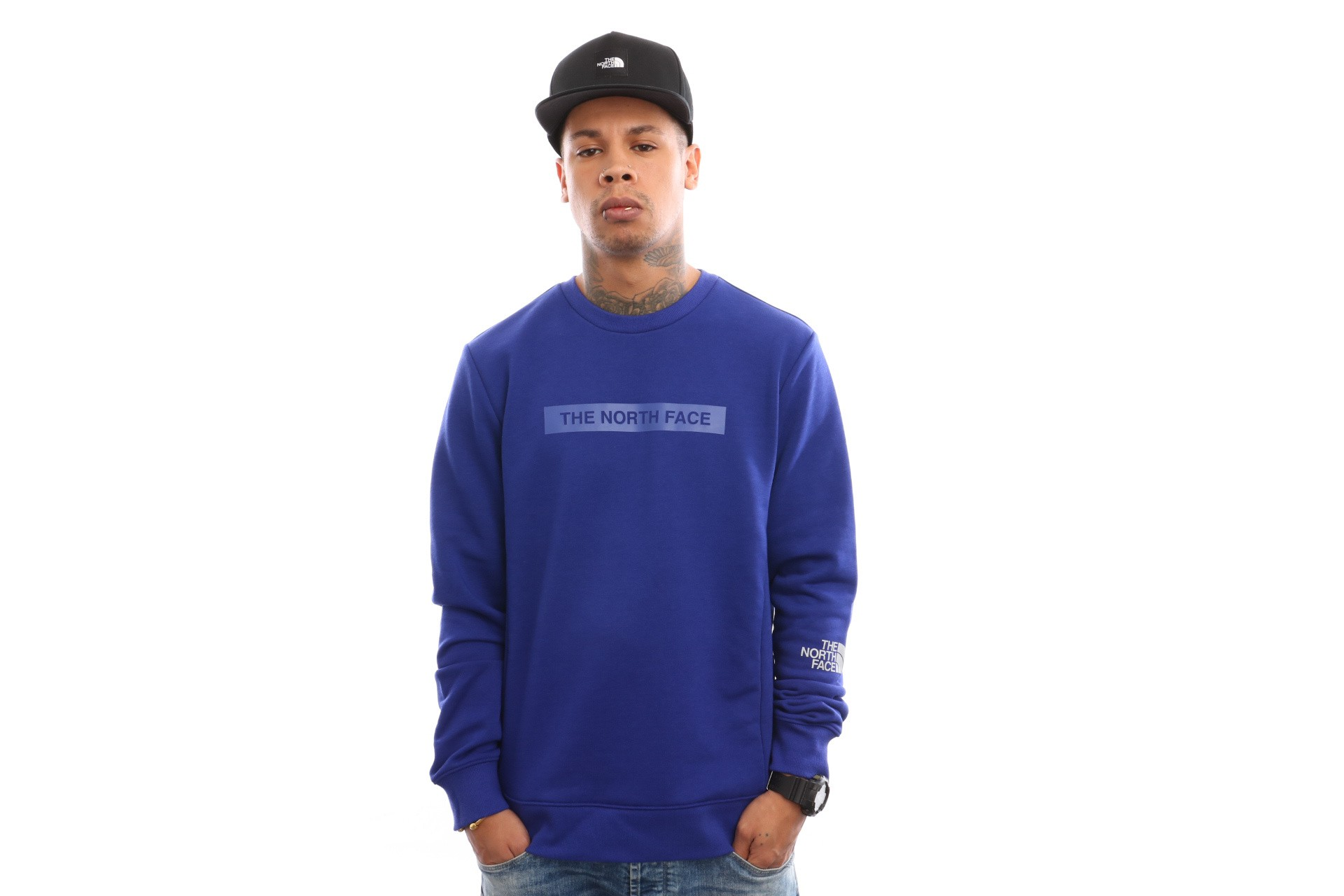Foto van The North Face M Lht Crew T93Ryd Crewneck Lapis Blue